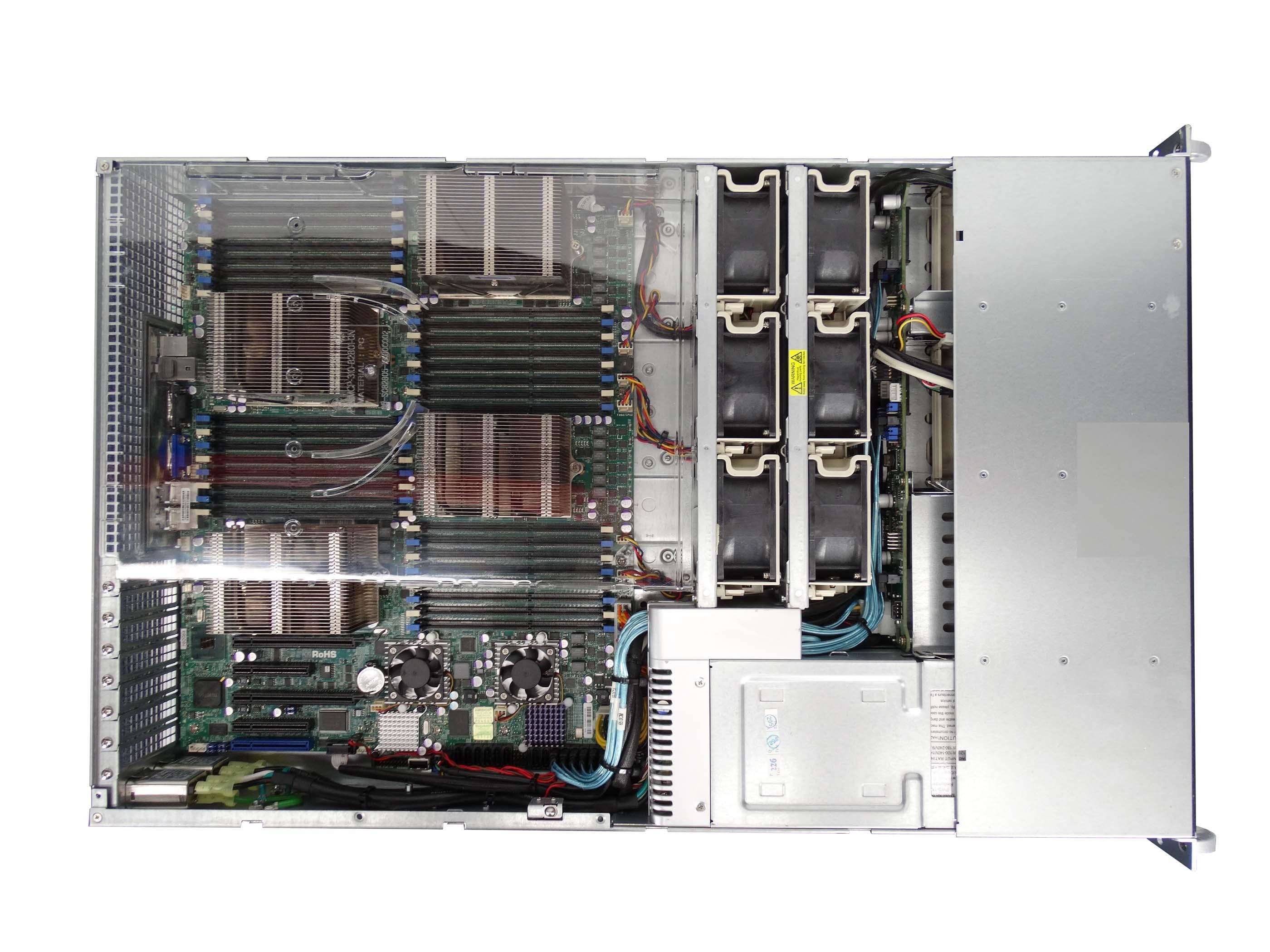Supermicro-828TQ-R1K43LPB-W-H8QG6-F-4x-AMD-6128-48GB-6x-Trays-Rails thumbnail 2