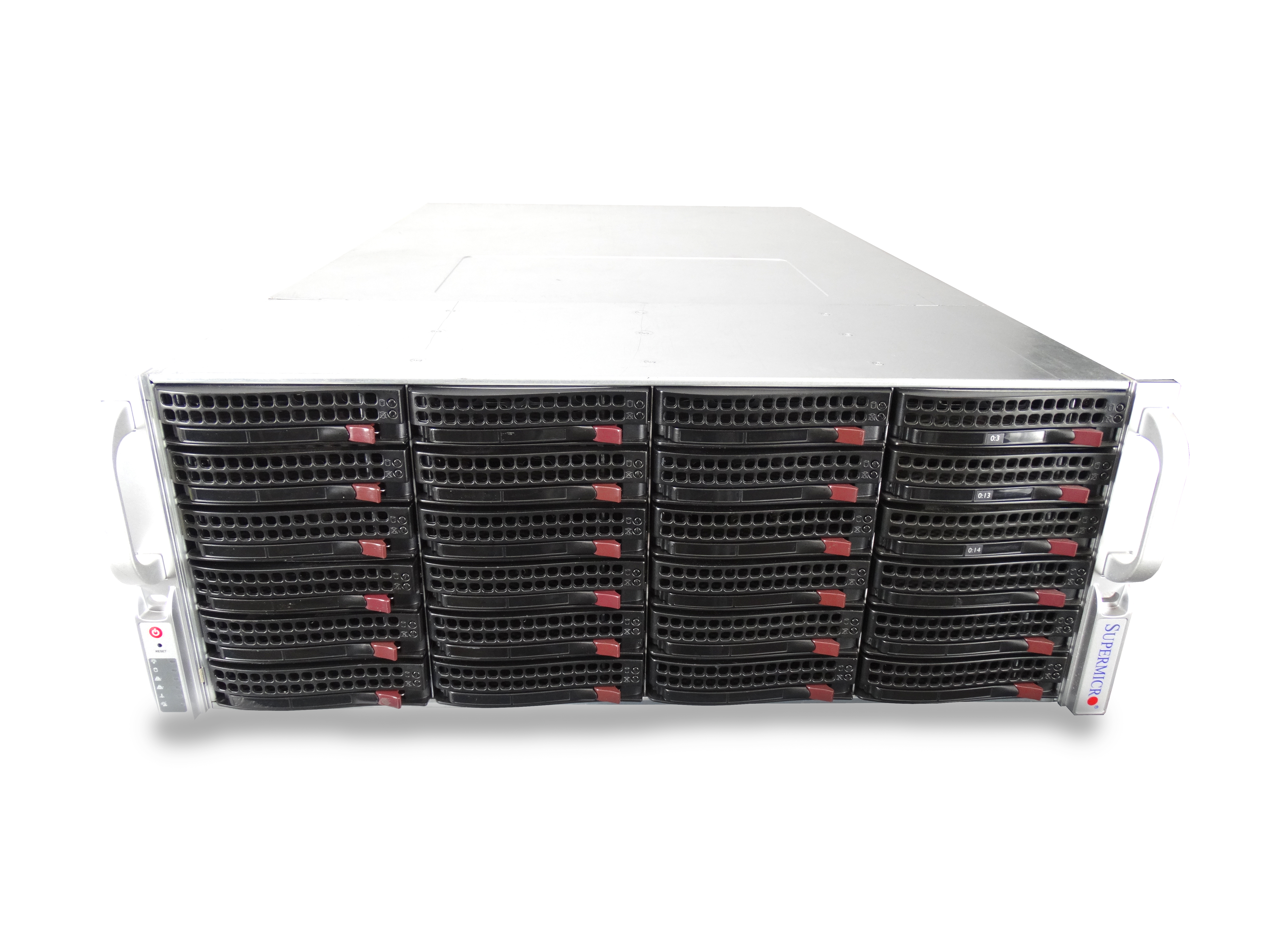 Supermicro-4U-Freenas-ZFS-Unraid-Server-2x-E5-2650v2-8-Core-48GB-24x-Trays