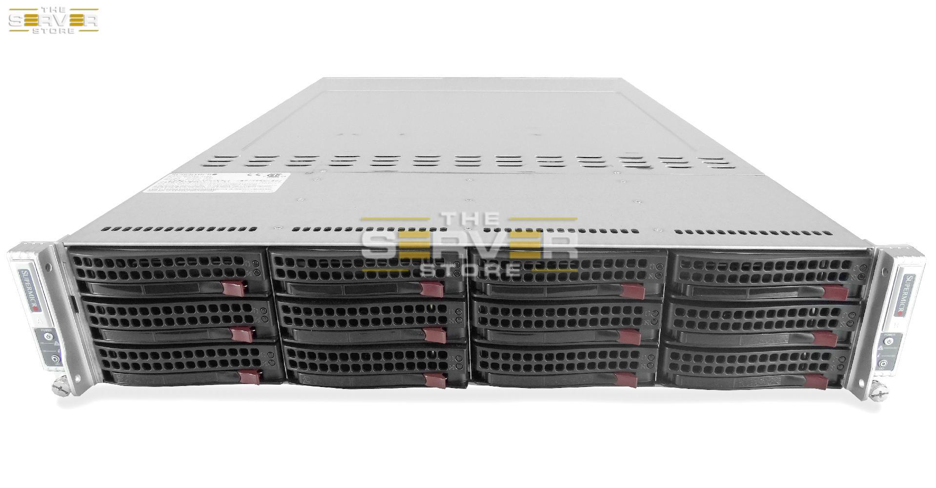 SuperMicro FatTwin 6027TR-DTRF 12x 2U LFF 2-Node Server