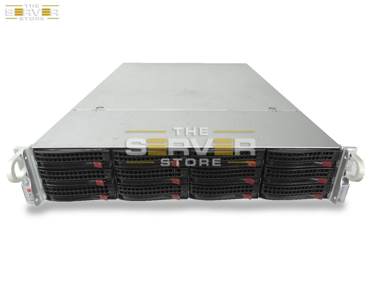 SuperMicro SuperStorage 6027R-E1R12N 12x 2U LFF Server