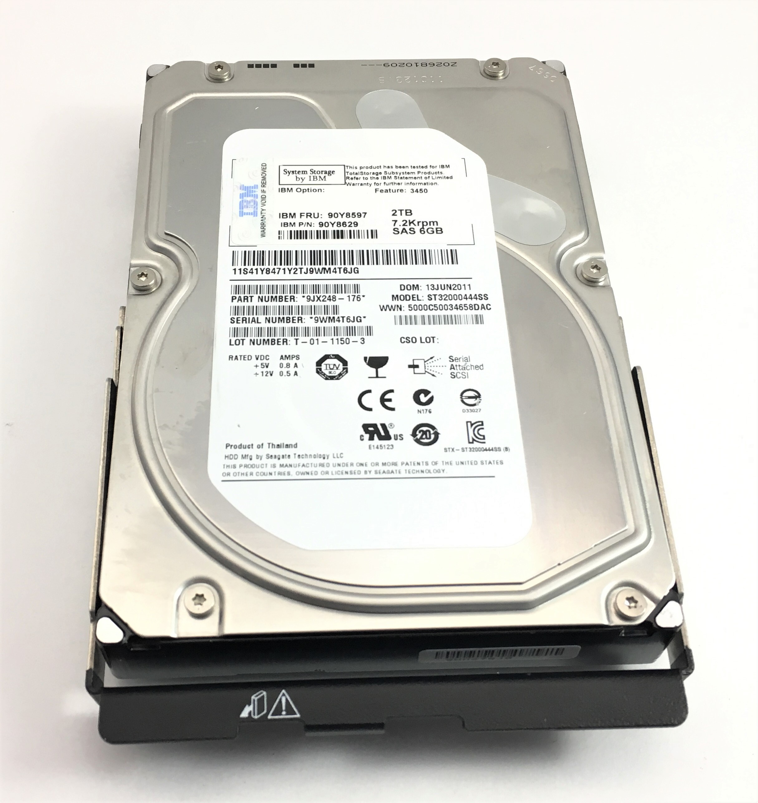 IBM 2TB 7.2K 6Gbps SAS 3.5'' Hard Drive (Servers Only) (90Y8597)