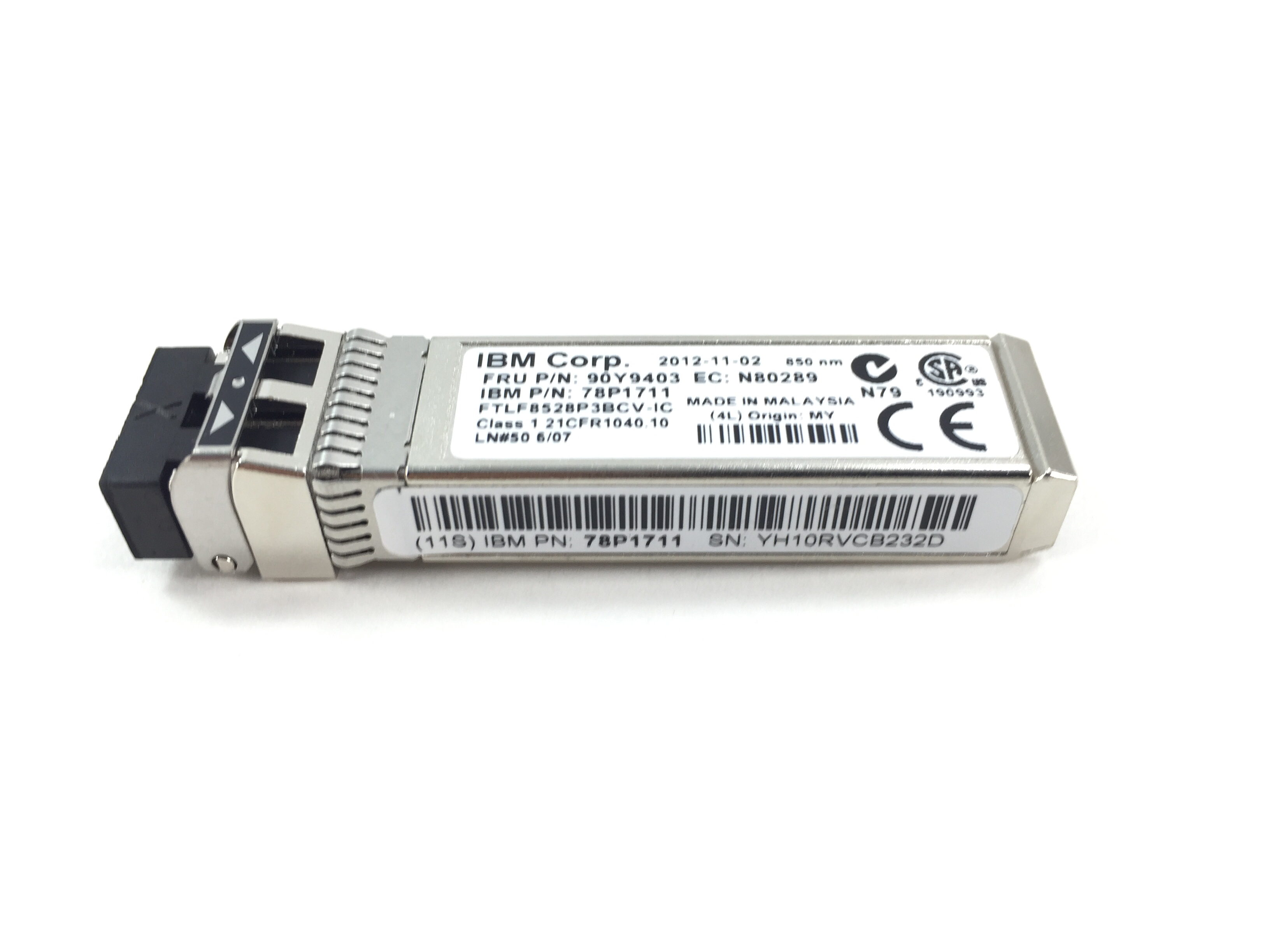 IBM Ftlf8528P3Bcv-Ic 8GB SFP Sw Optical Transceiver (90Y9403)