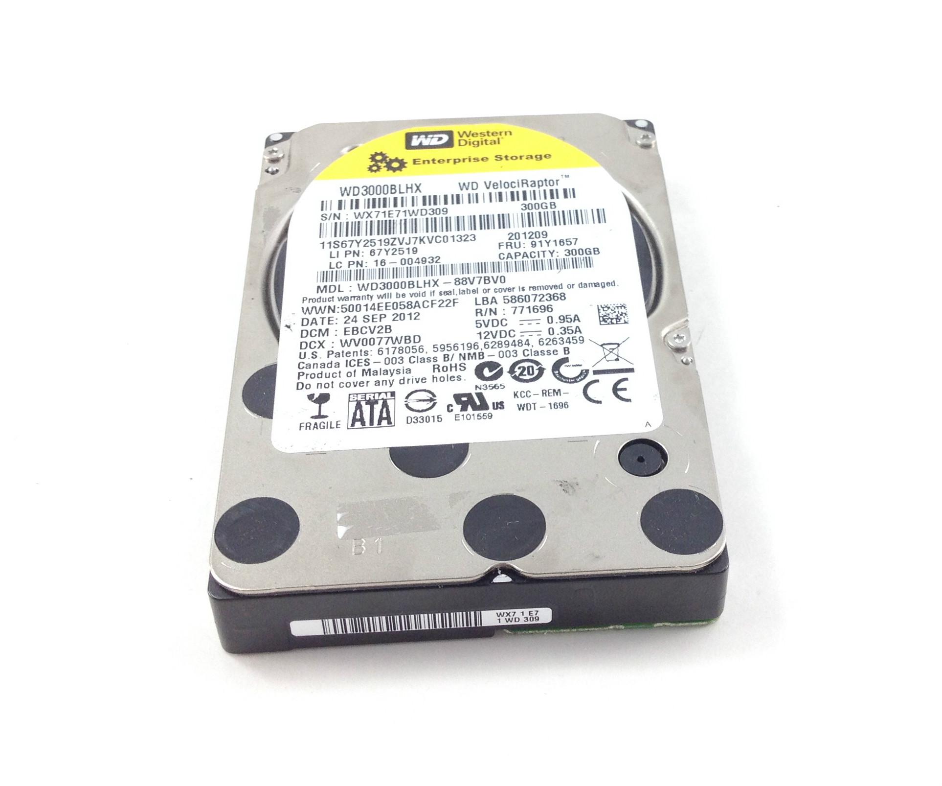IBM Western Digital 300GB 10K 16MB SATA 2.5'' Hard Drive (91Y1657)