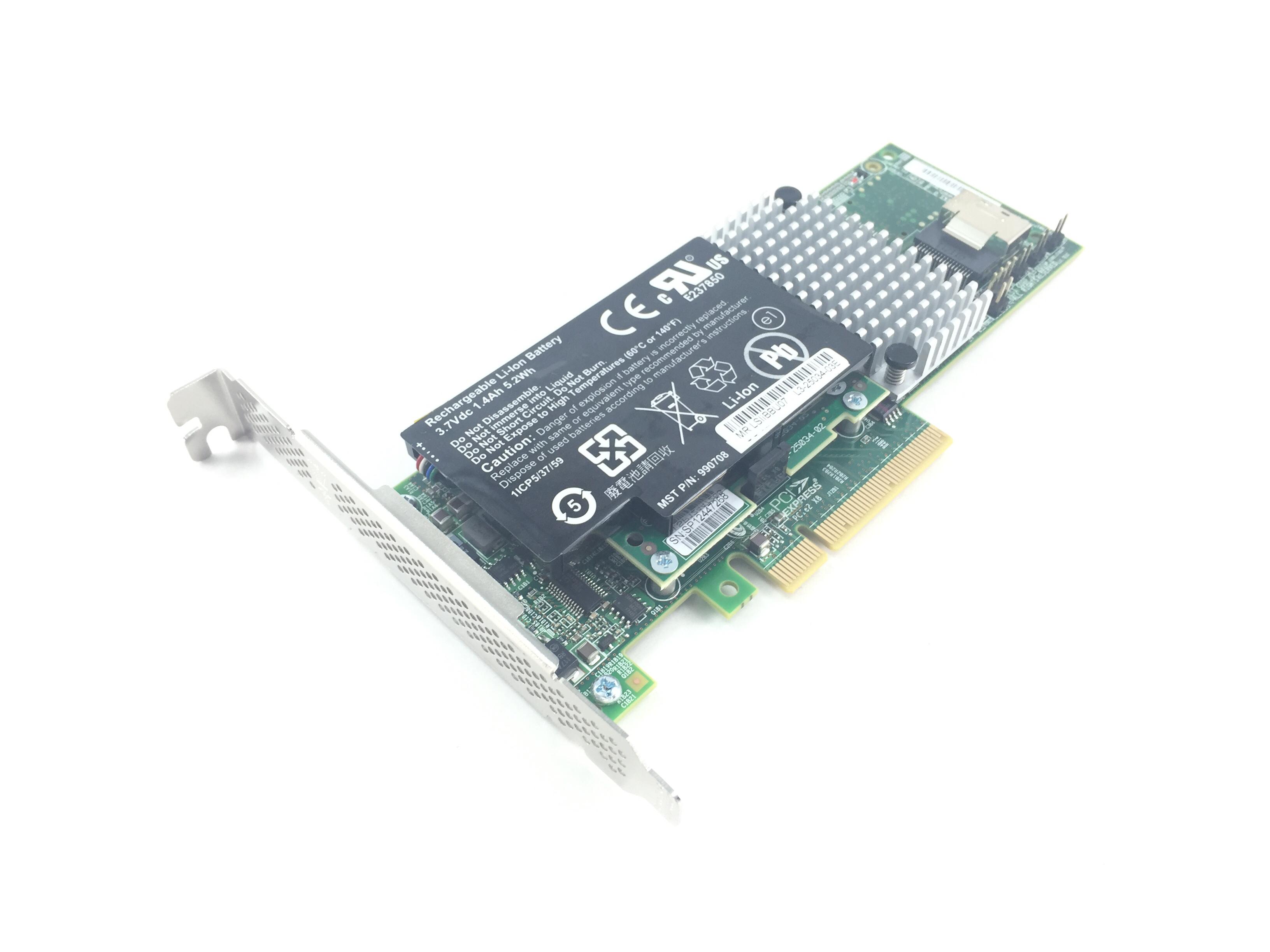 Lsi 3Ware 6Gbps 4-Port PCI-E X8 SAS/SATA Raid Controller (9750-4I)