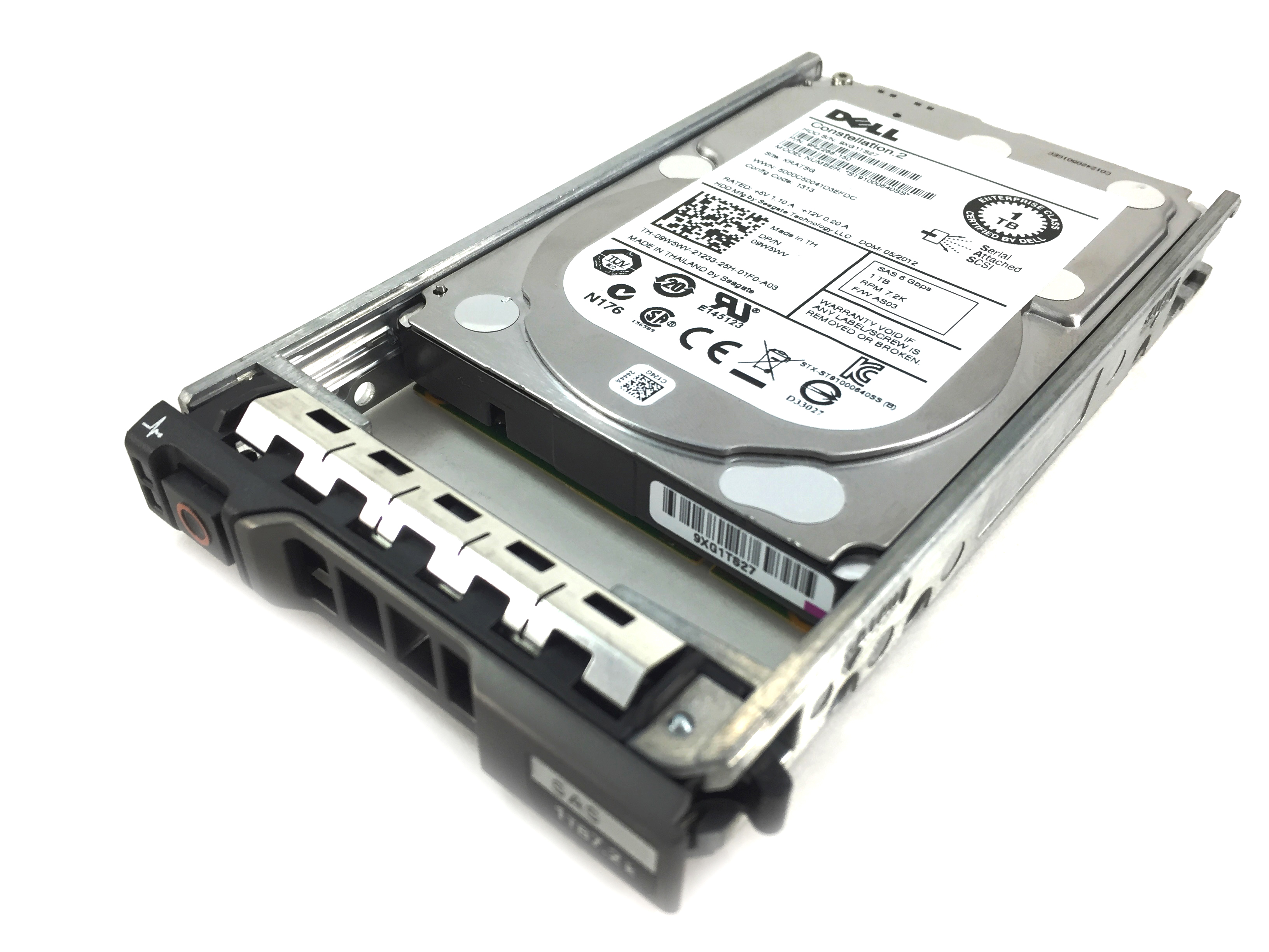 DELL ENTERPRISE 1TB 7.2K 6GBPS SAS 2.5'' HARD DRIVE W/ TRAY (9W5WV)