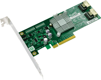 Supermicro PCI-E SAS/SATA Controller Card w/ High Profile (AOC-SAS2LP-MV8)