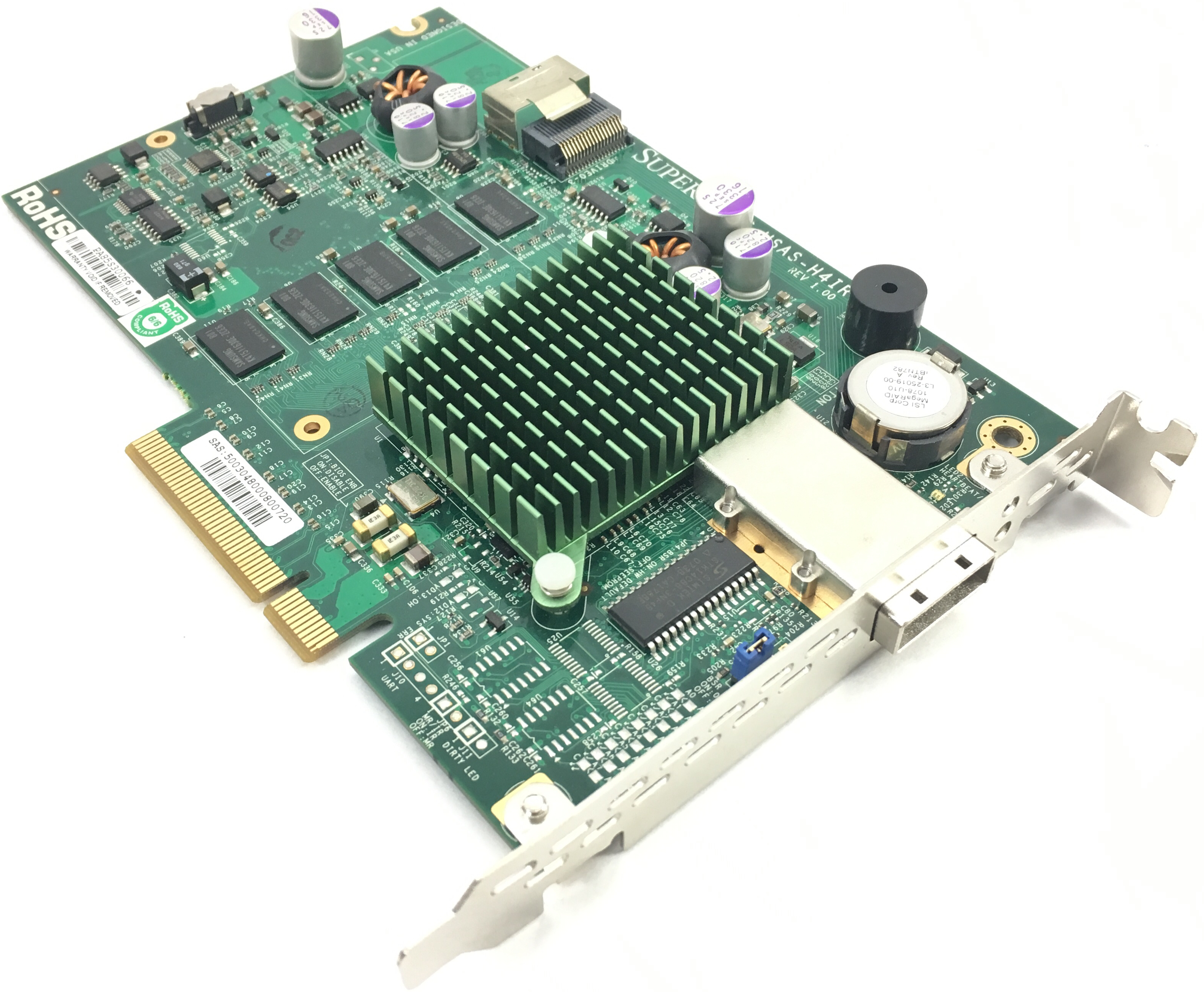 Supermicro 3Gb/s 4-Internal And 4-External Ports SAS Raid Adapter (AOC-USAS-H4IR)