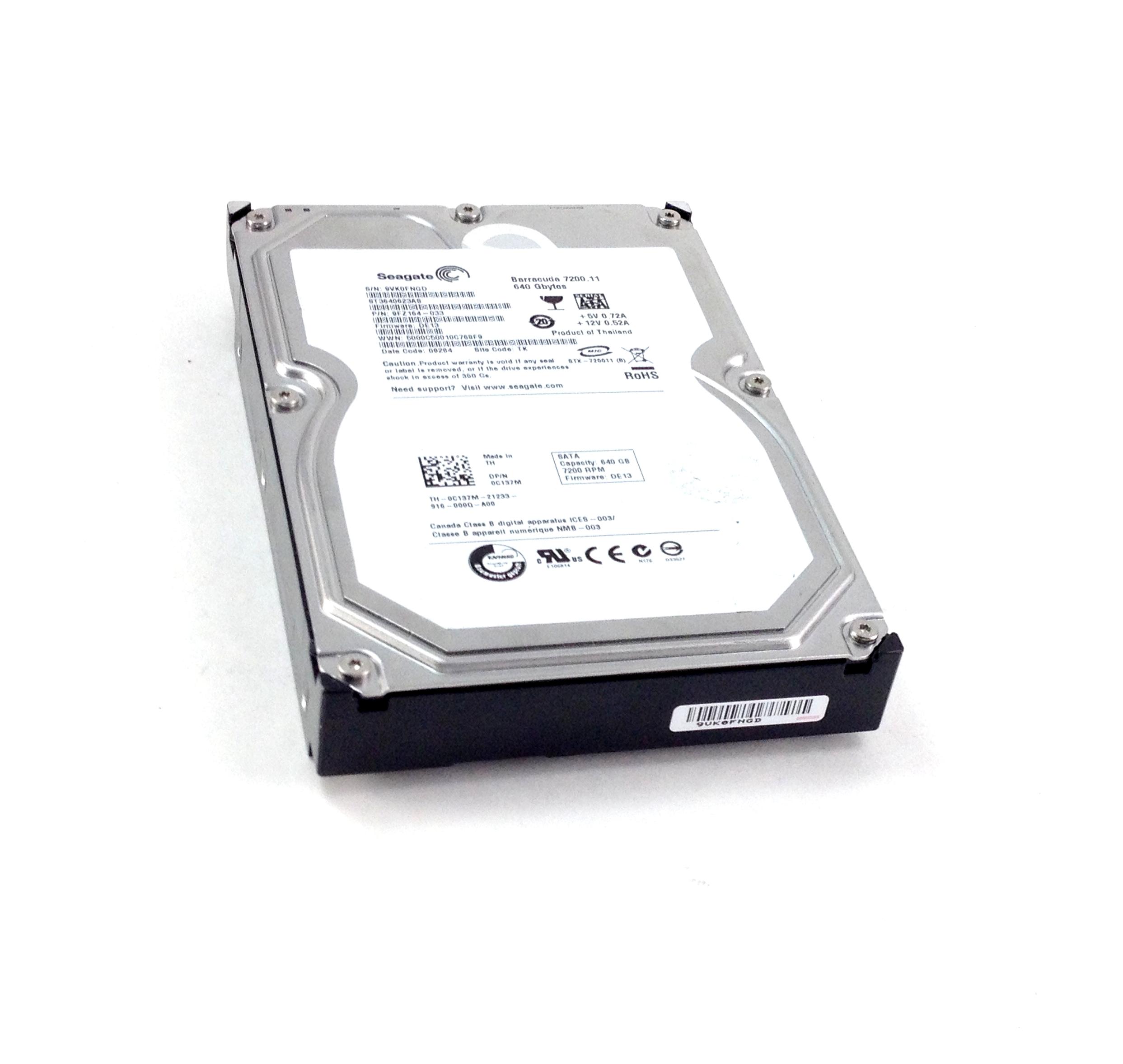 Dell 640Gb 7.2K 3Gbps SATA 3.5'' Hard Drive (C137M)