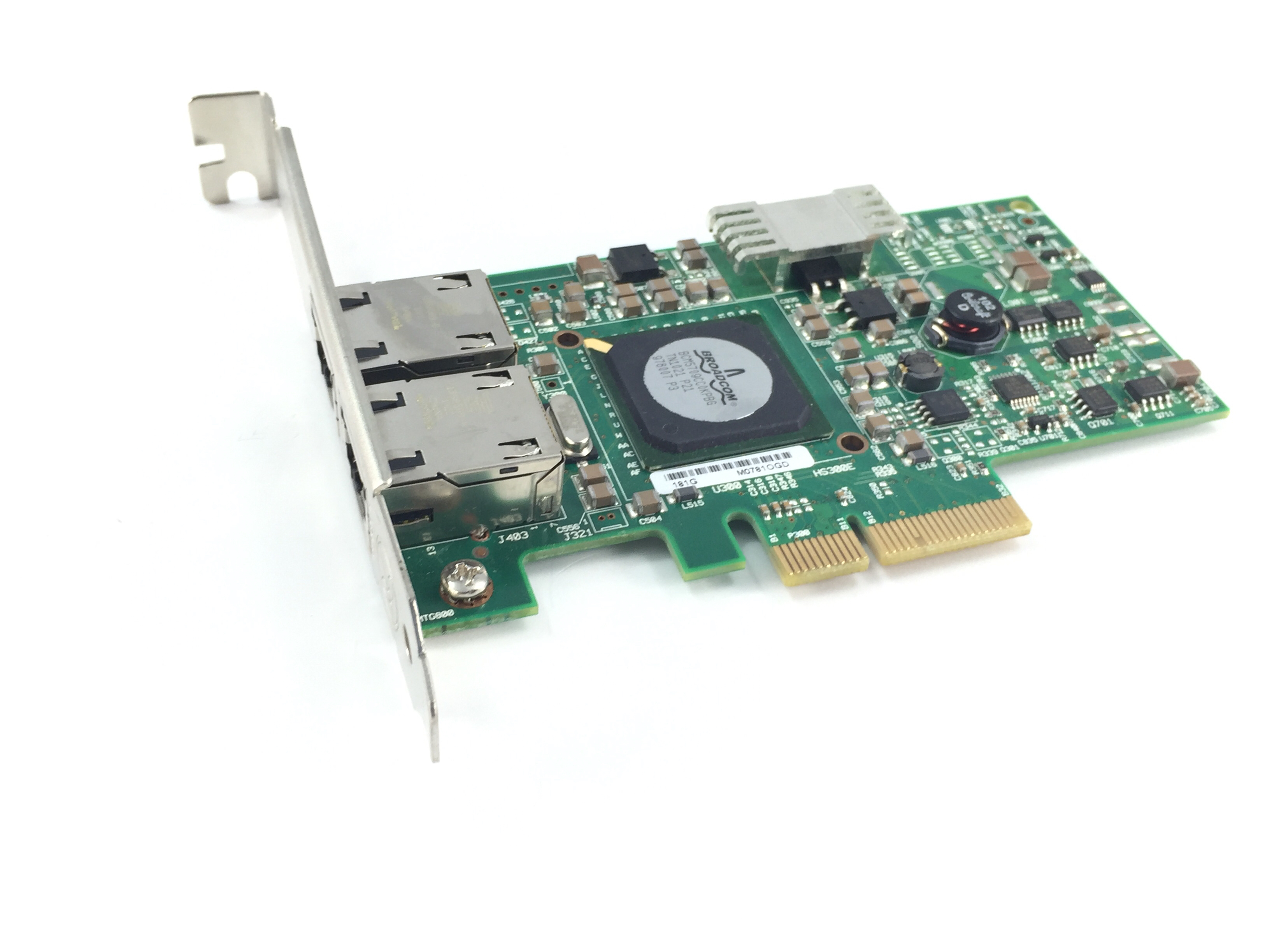 DELL BROADCOM 1GB DUAL PORT PCI-E NETWORK INTERFACE CARD (F169G)