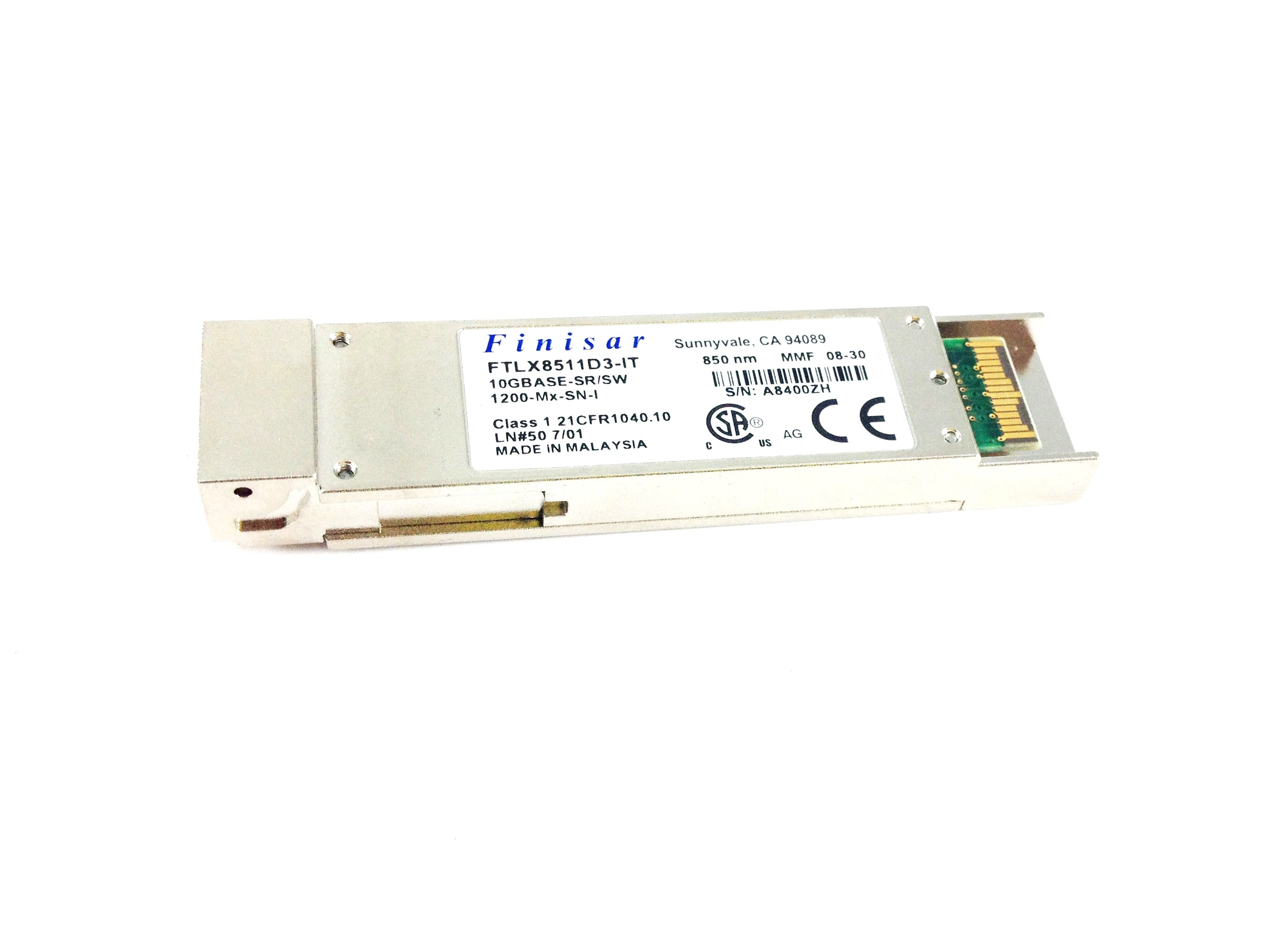 Finisar 10GB 10Gbase-Sr/Sw 850NM 300M XFP Transceiver (FTLX8511D3-IT)