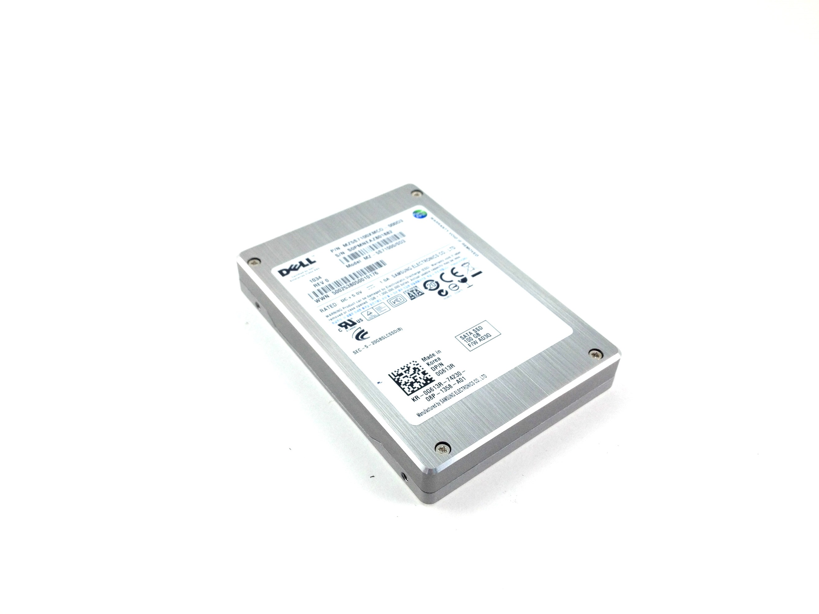 Dell Samsung 100GB 3Gbps SATA  2.5'' Solid State Drive SSD (G613R)