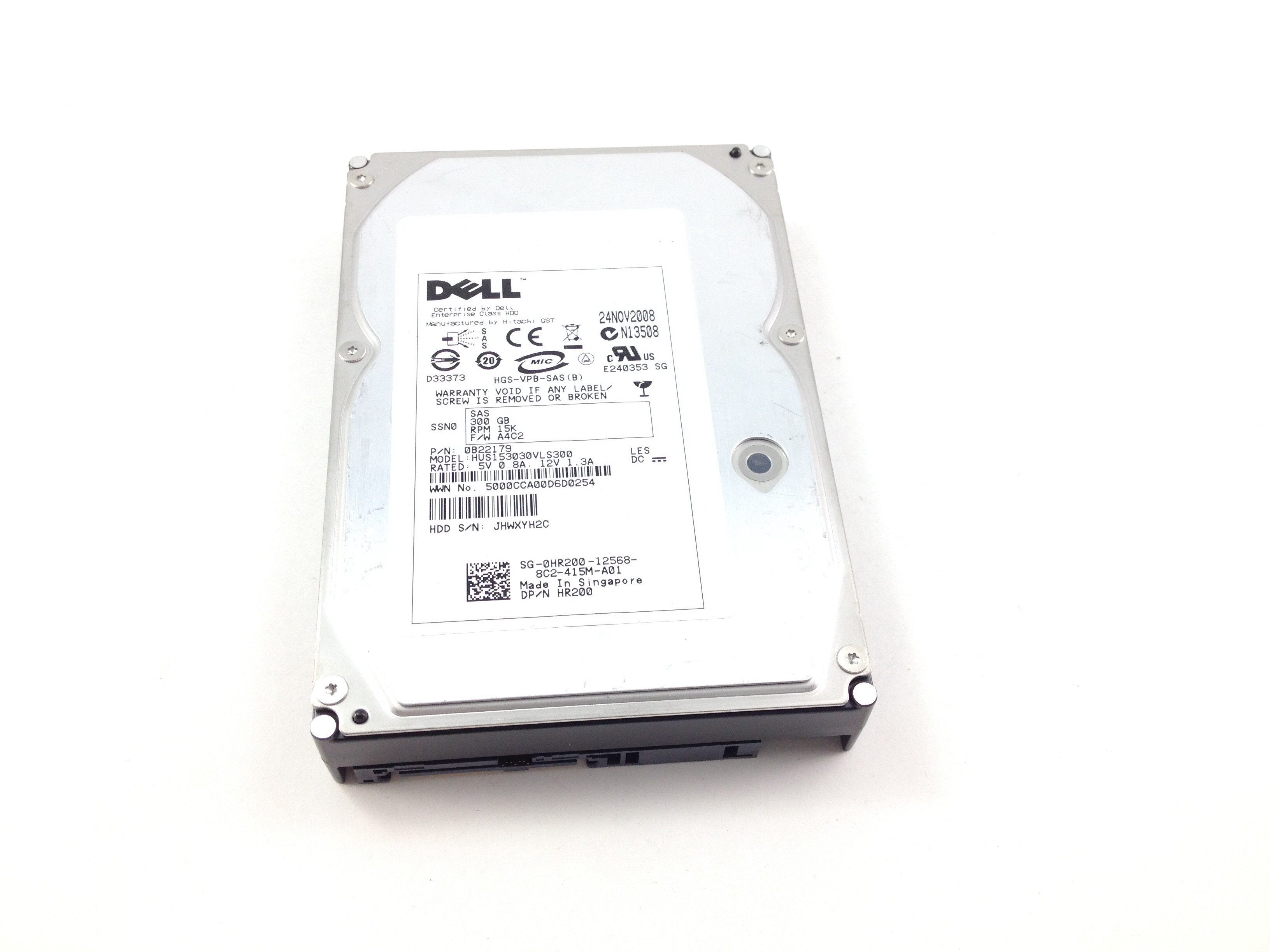 DELL HITACHI 300GB 15K SAS 3GBPS 3.5'' HARD DRIVE (HR200)