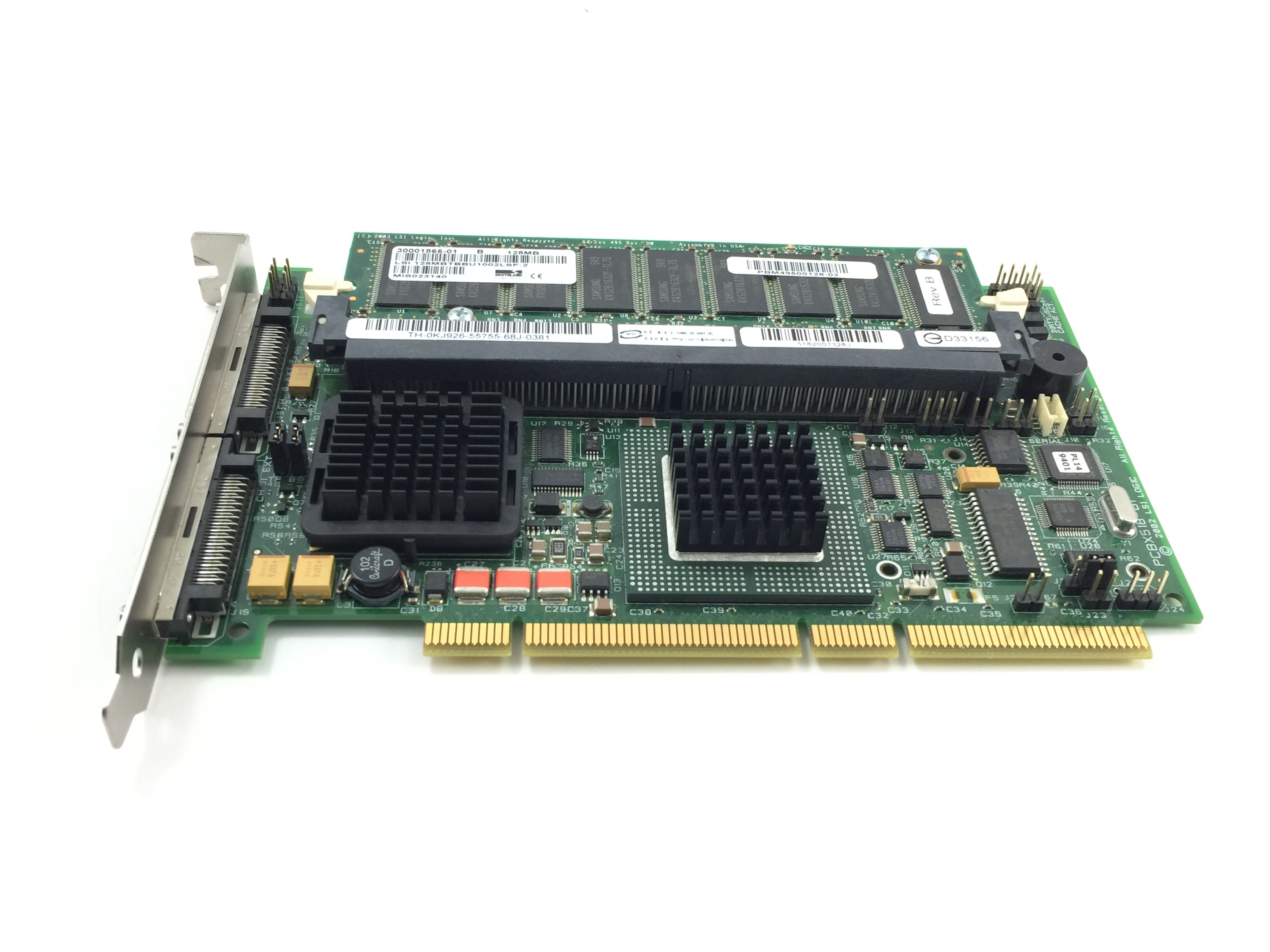 Dell PERC4 Pci-X Ultra320  Raid Controller W /Memory (KJ926)