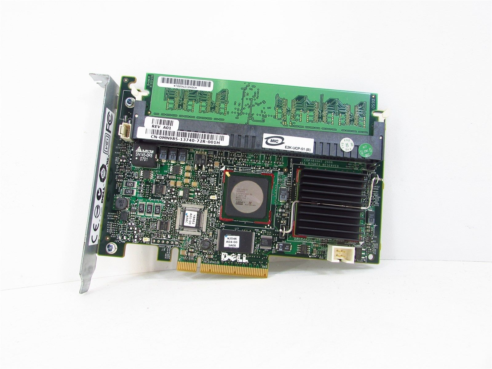 Dell Perc 5I PCI-E SAS/SATA Raid Controller (MN985)