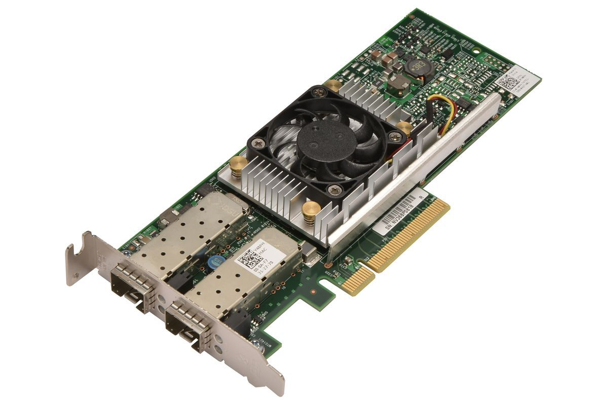 Dell Broadcom 57810 Dual Port 10GB SFP+ PCIe Network Adapter Card (N20KJ)