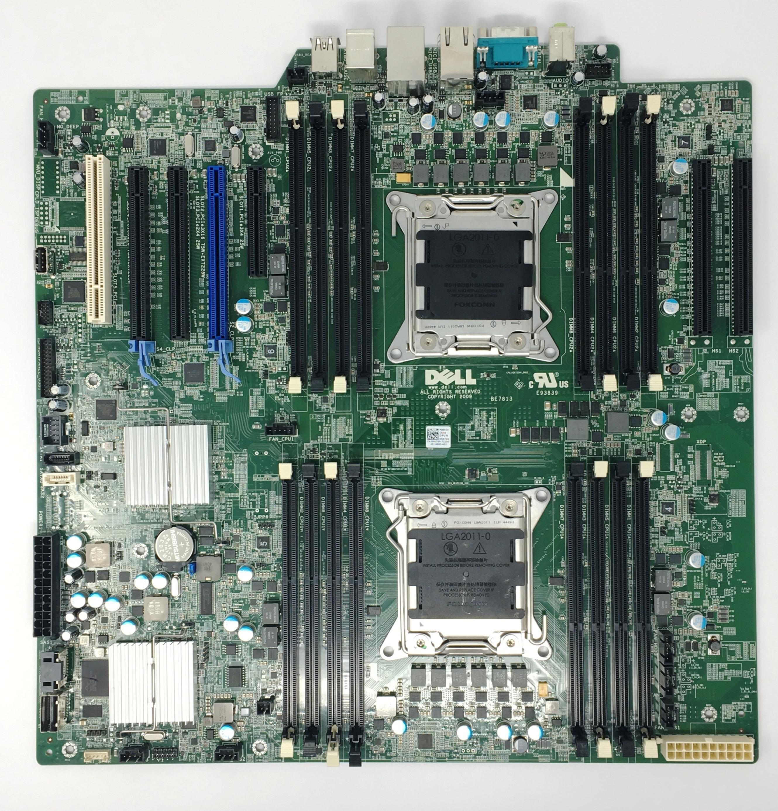 Dell Dual socket LGA2011 16-DIMMS Slot T7610 System Board (NK70N)