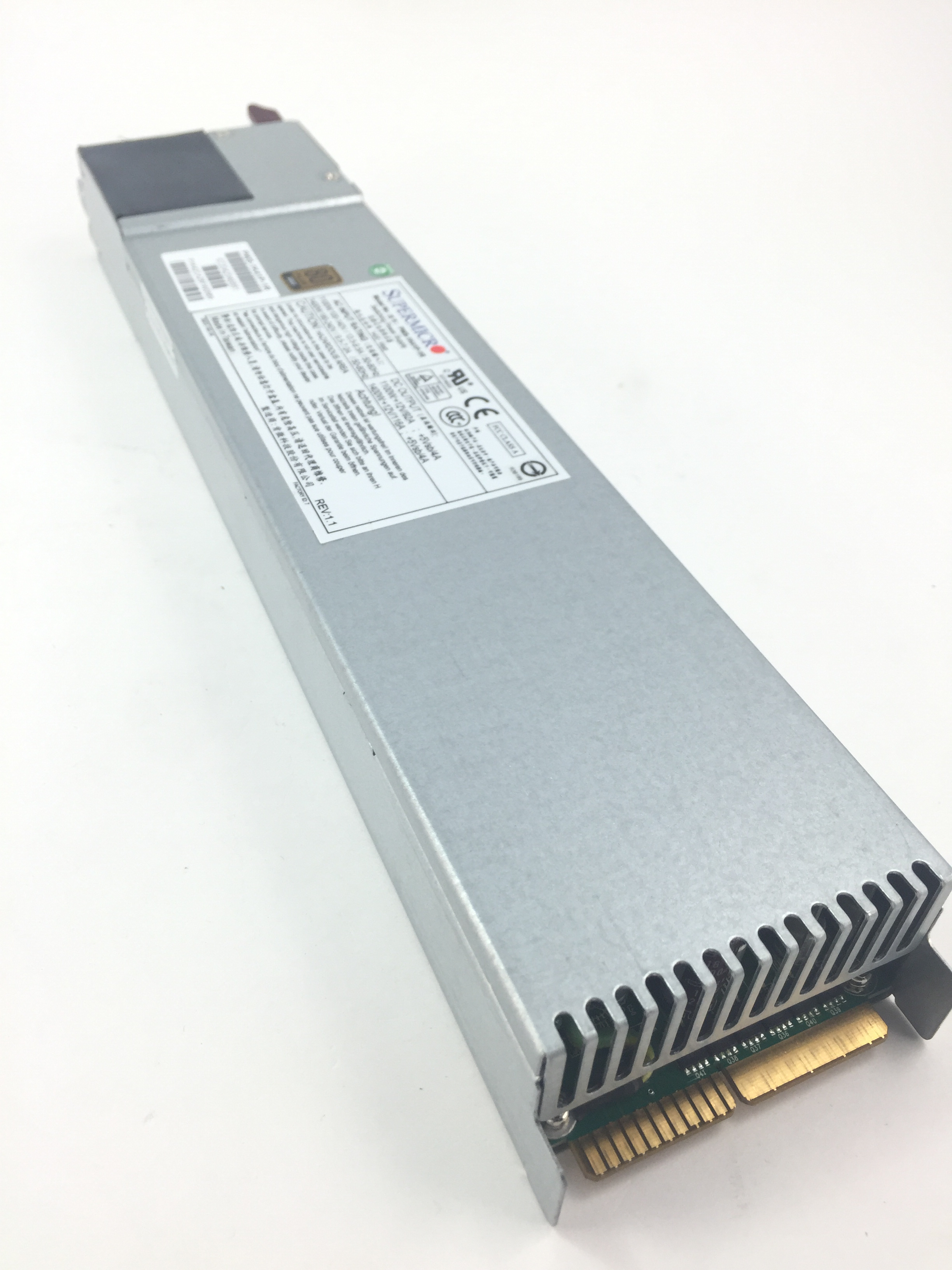 SUPERMICRO 1400W REDUNDANT SINGLE OUTPUT POWER SUPPLY, GOLD LEVEL PMBUS (PWS-1K41P-1R)