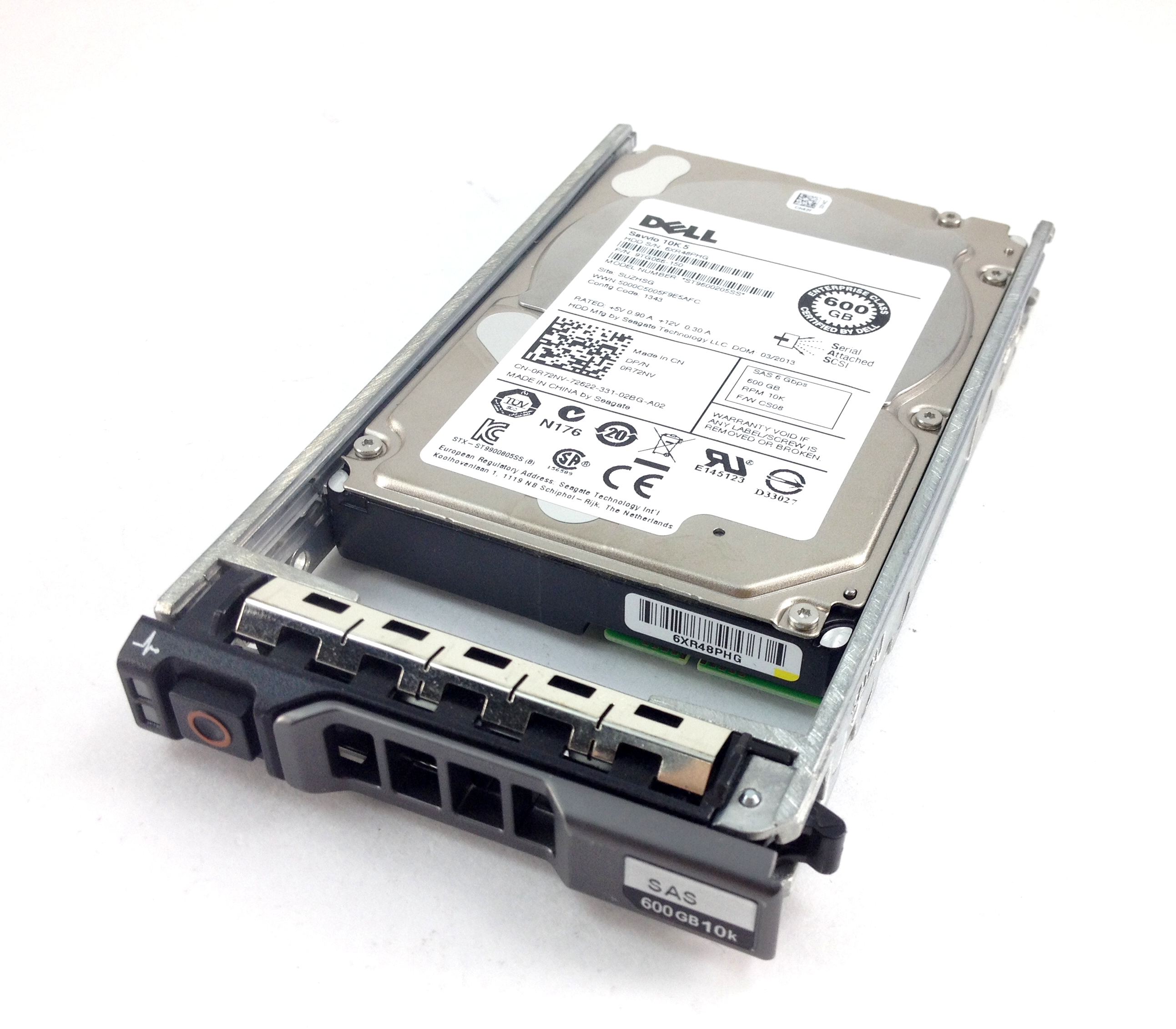 DELL 600GB 10K 6GbPS SAS 2.5'' HARD DRIVE (R72NV)