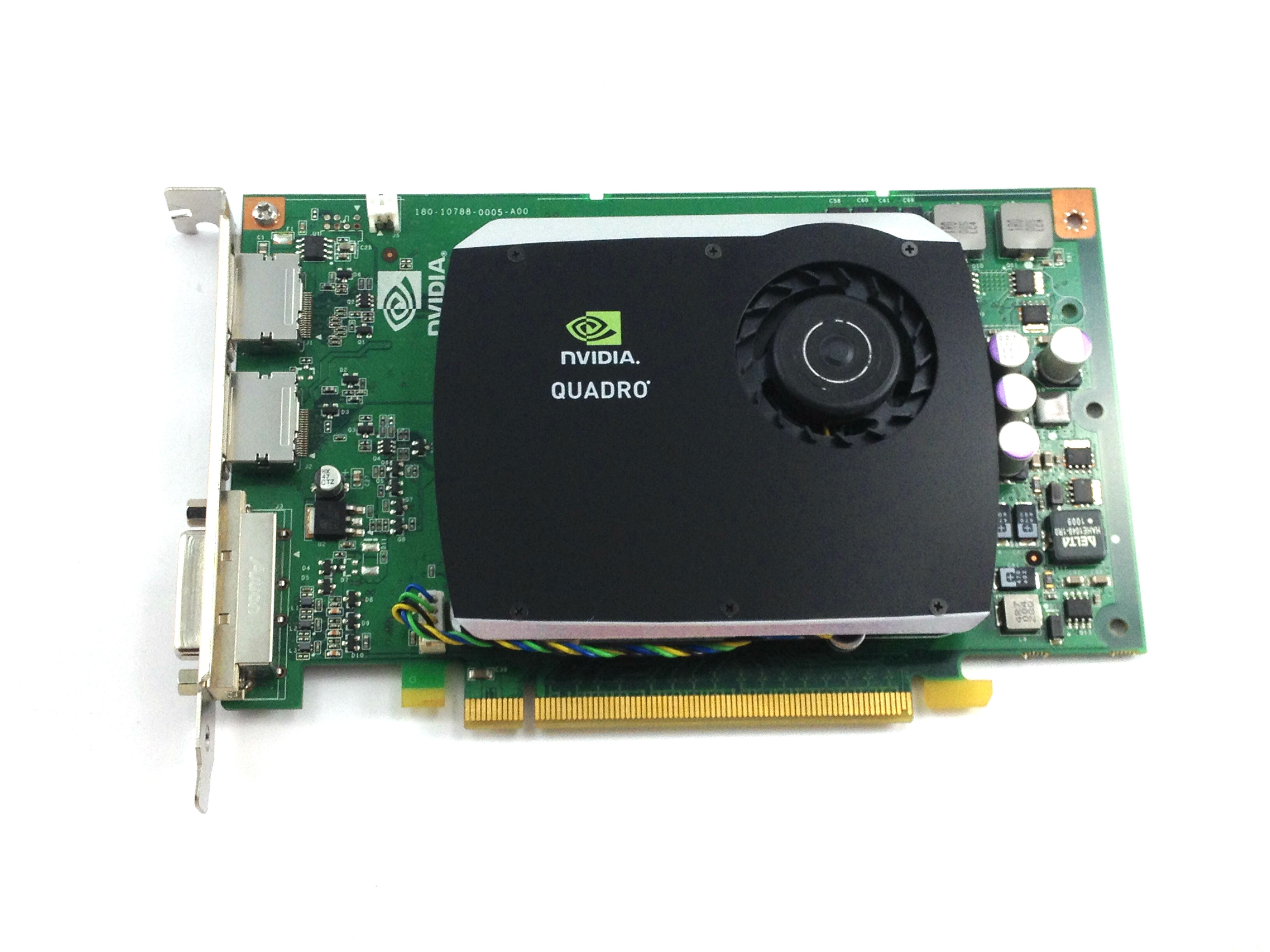 Dell Nvidia Quadro FX 580 512MB DVI Dual Port PCI-E Video Card (R784K)