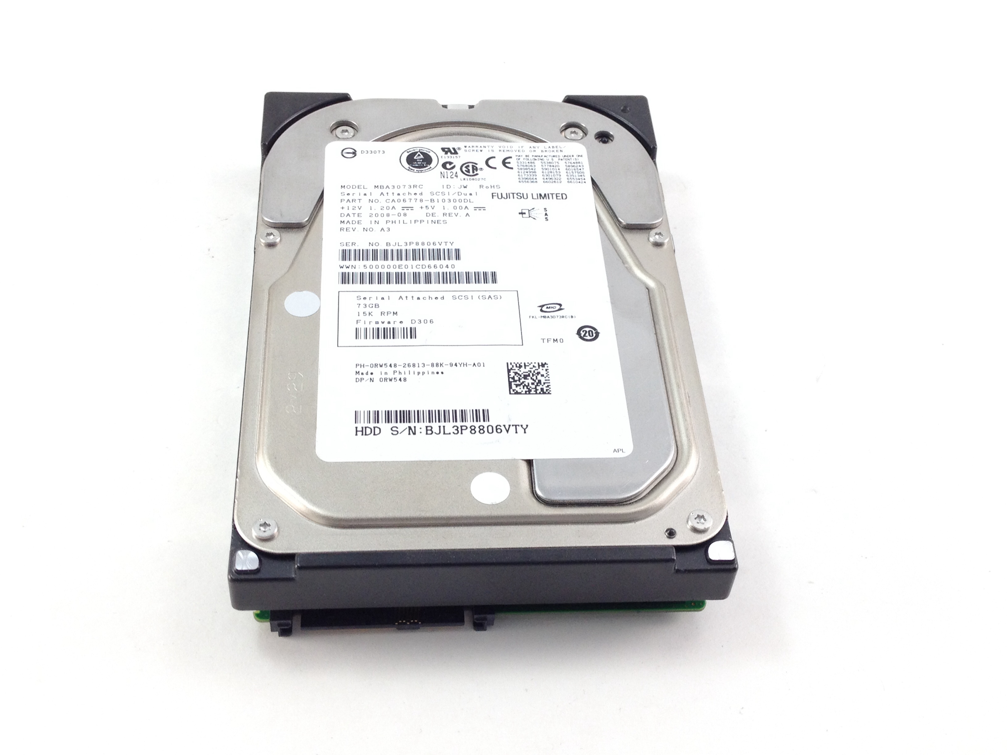 Dell 73GB 15K  SAS 3.5'' Hard Drive (RW548)