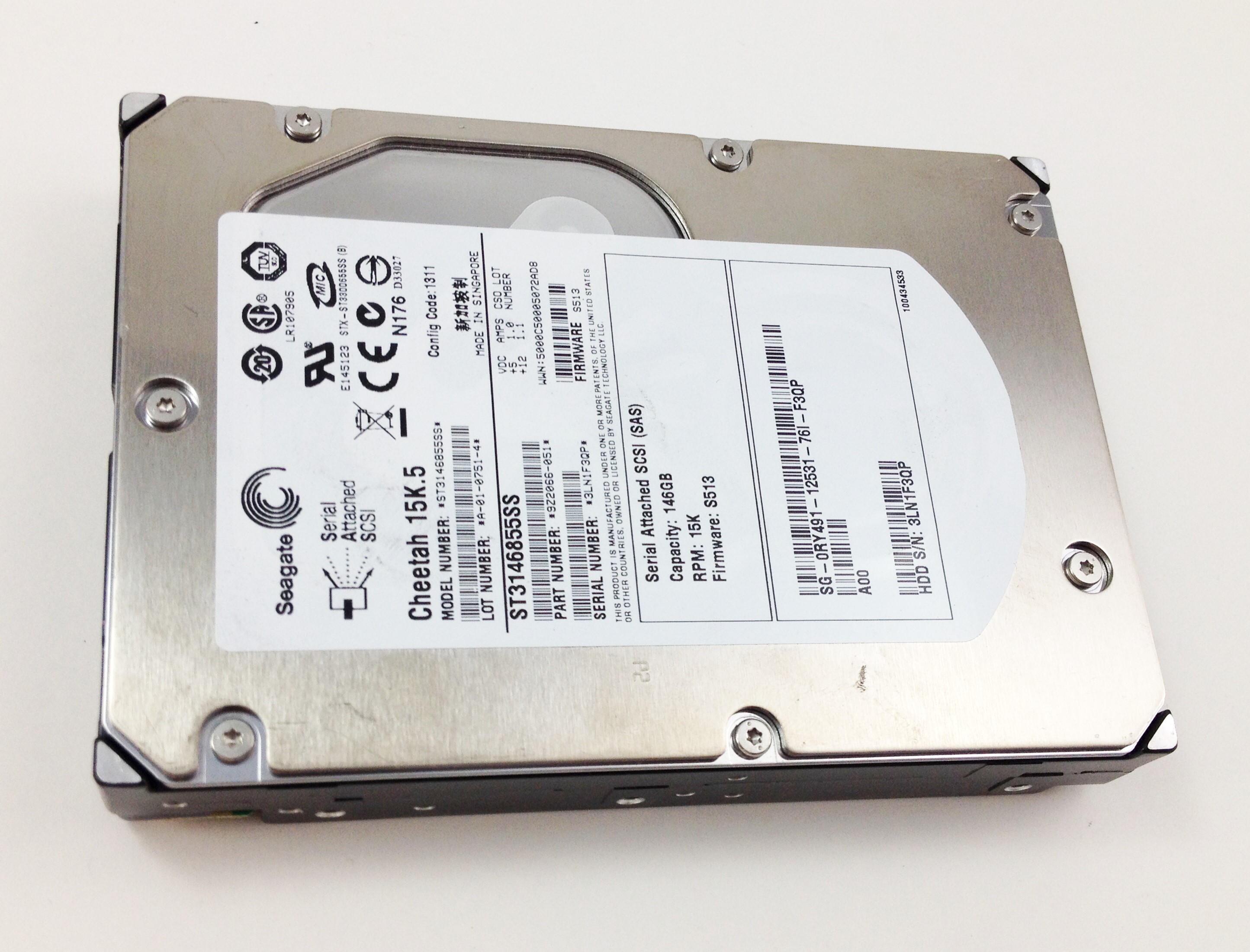 Dell 146GB 15K 3.5''  SAS Hard Drive (RY491)