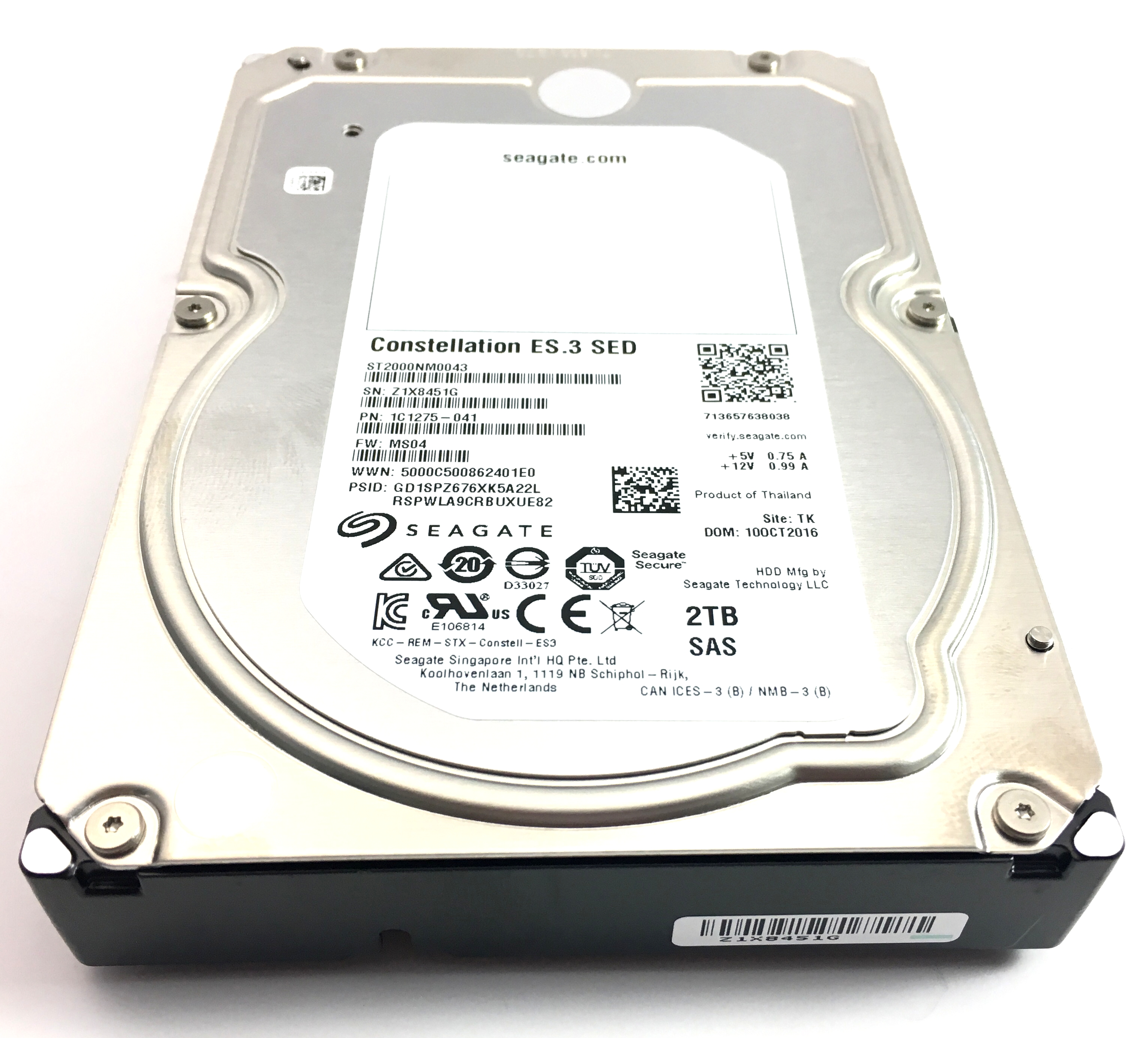 Seagate Constellation 2TB 7.2K 6Gbps SAS 3.5'' Hard Drive (ST2000NM0043)