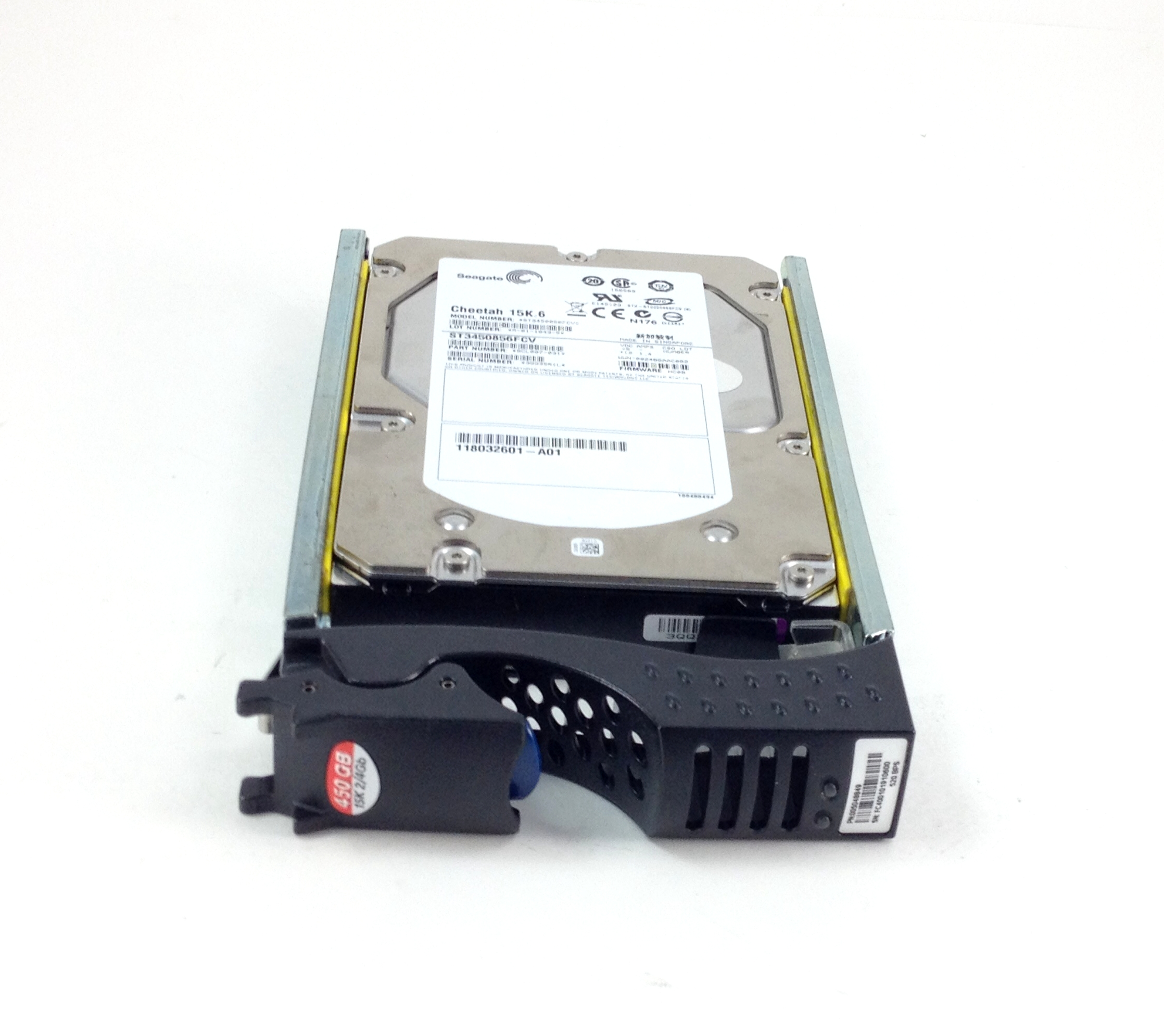 EMC Seagate 450GB 15K 4Gbps FC Hard Drive w/ Tray (ST3450856FCV)