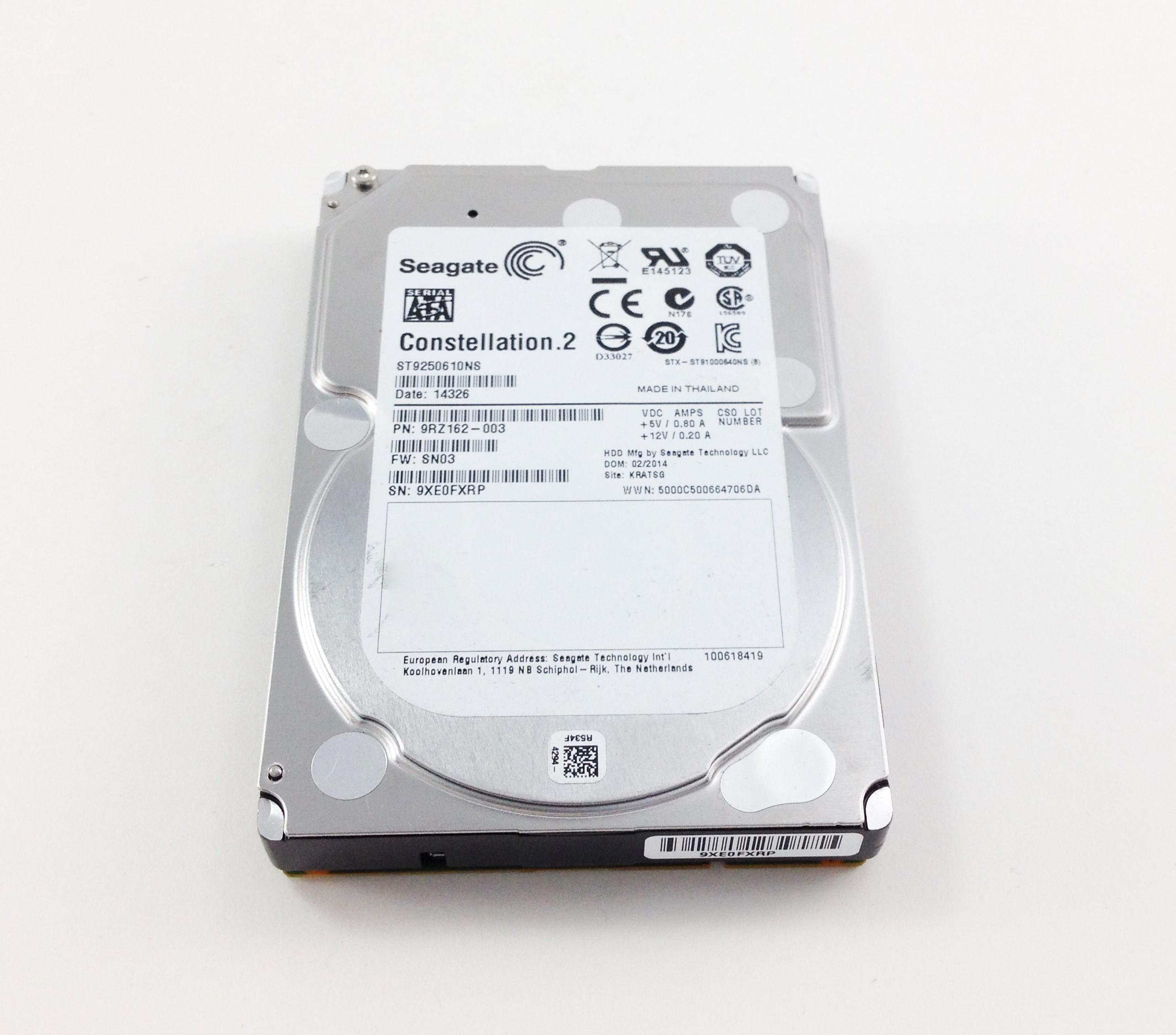 SEAGATE 250GB 7.2K 6GbPS SATA 2.5'' HARD DRIVE (ST9250610NS)