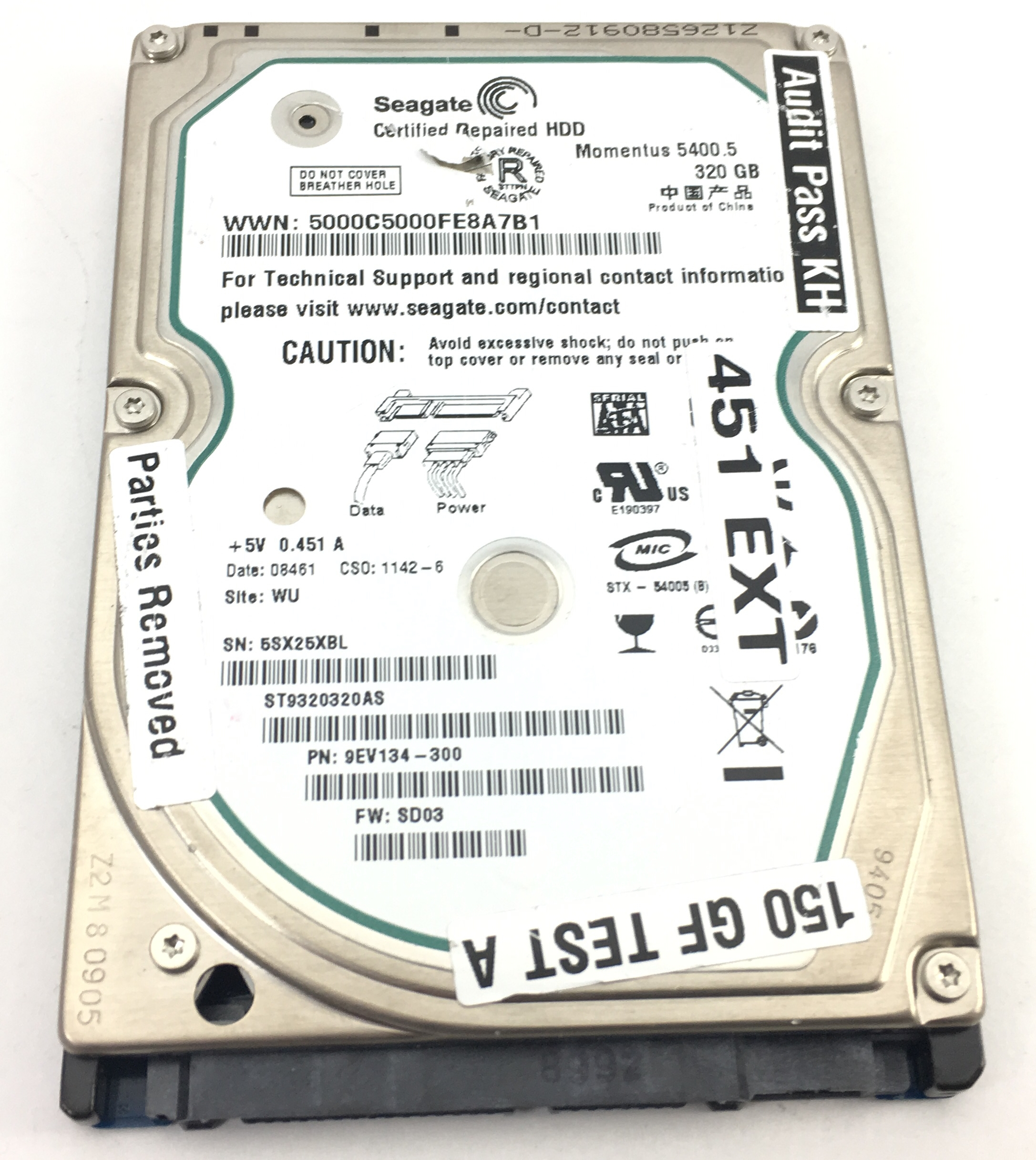 Seagate Momentus 320GB 5.4K SATA 2.5'' Hard Drive (ST9320320AS)