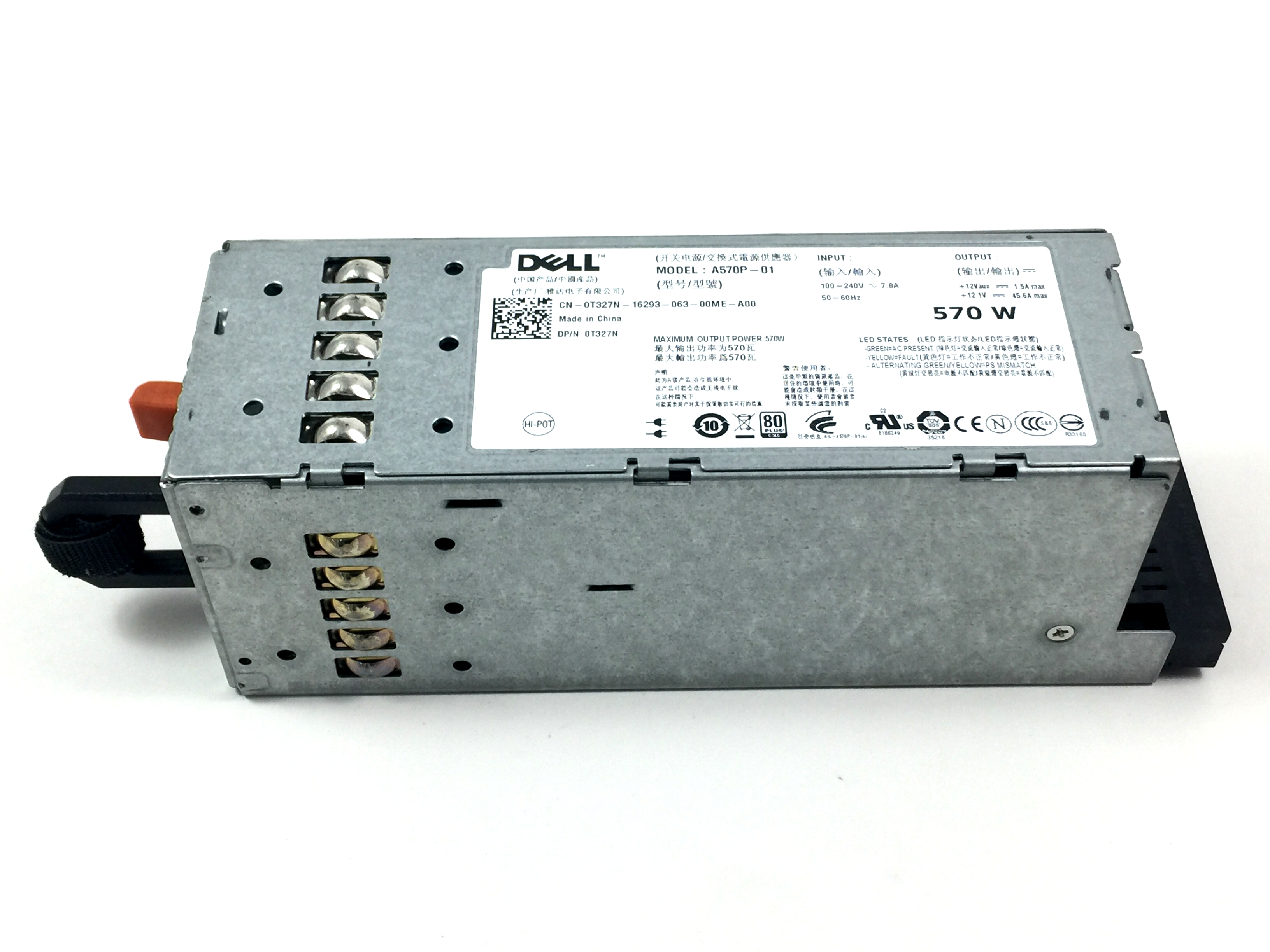 Dell PowerEdge R710 T610 570W Power Supply (T327N)