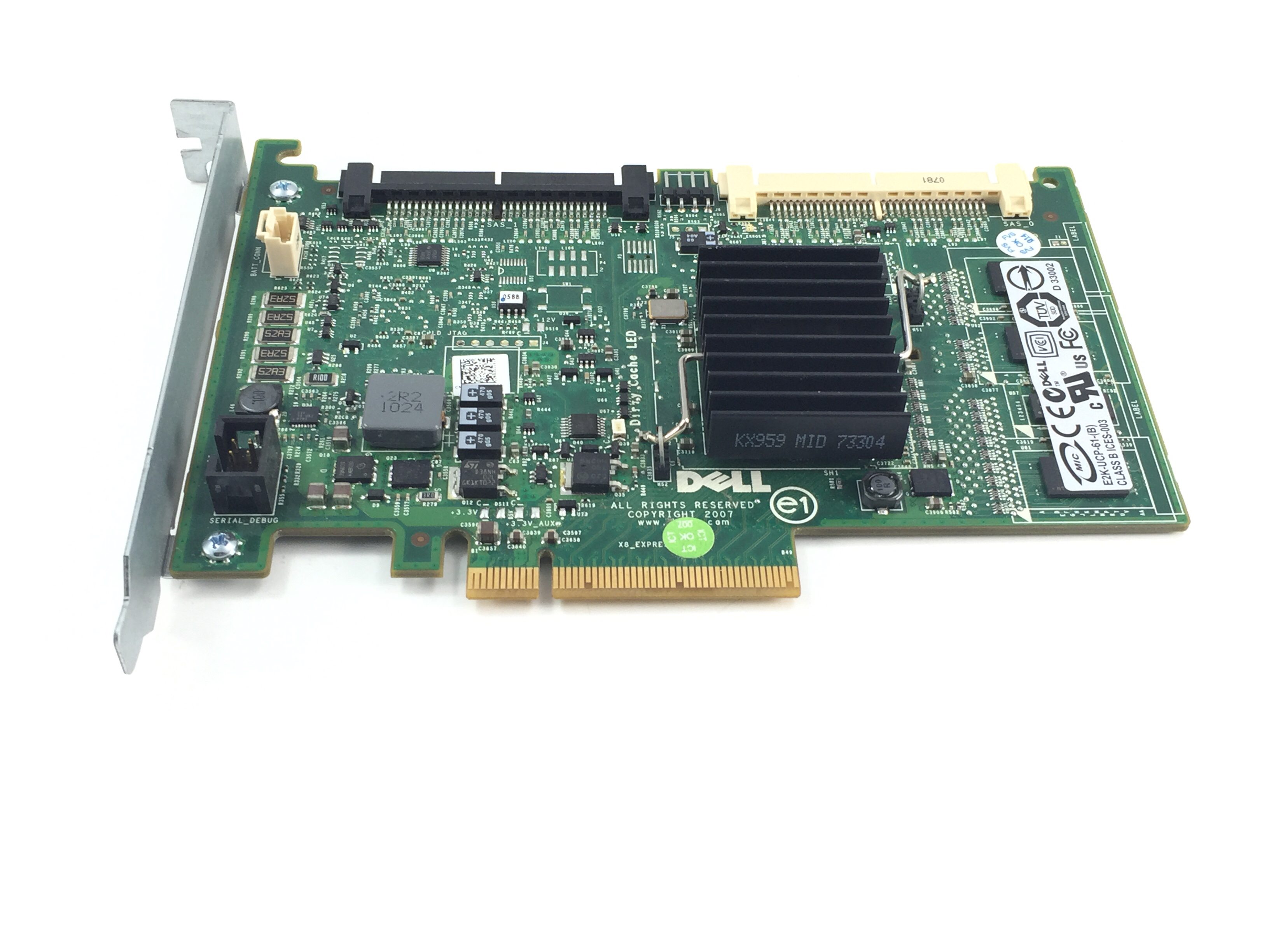 DELL POWEREDGE PERC 6/I SAS PCI-E RAID CONTROLLER (T774H)