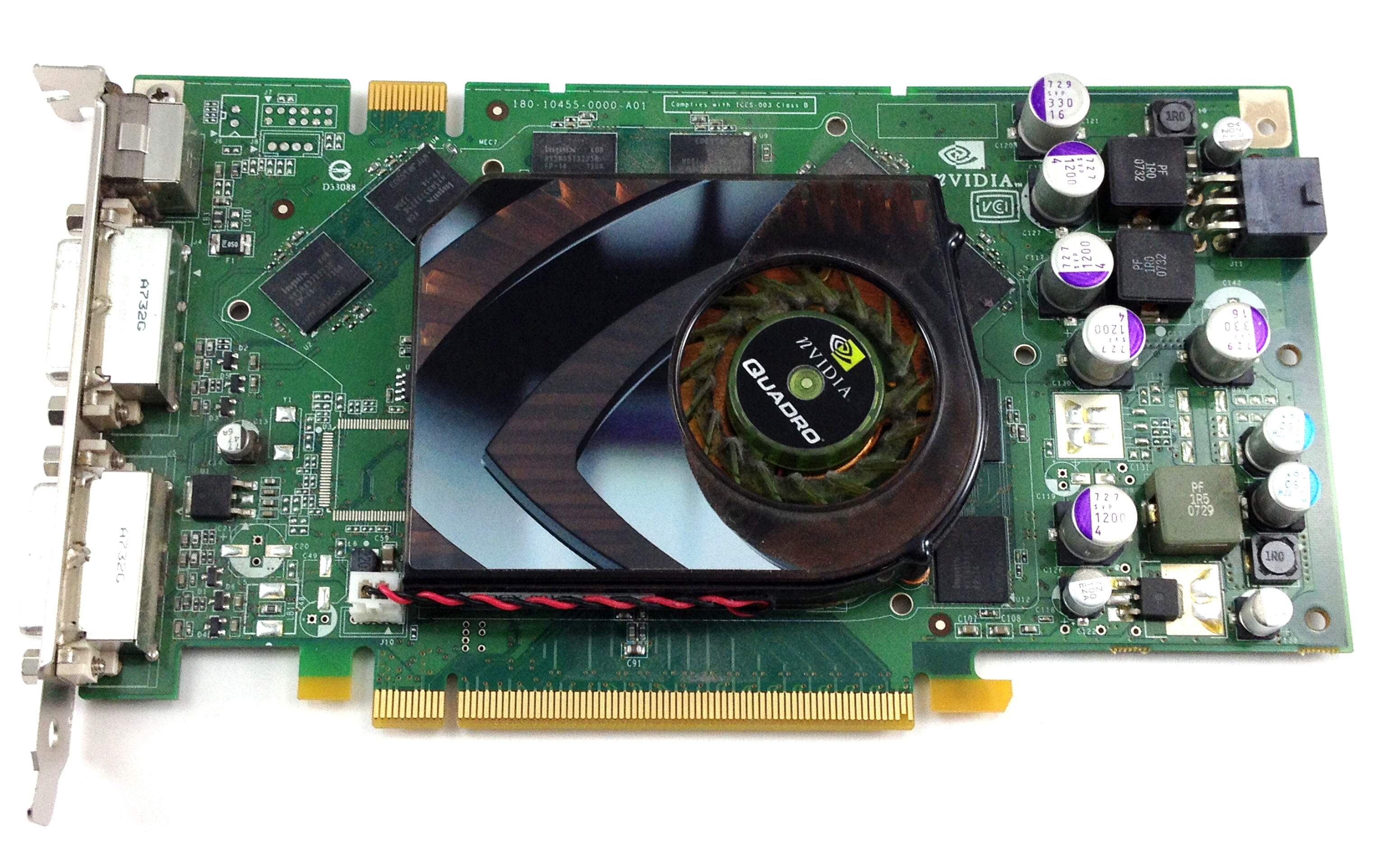 Nvidia Quadro FX 3450 256MB PCI-E Dual DVI Video Card (T9099)