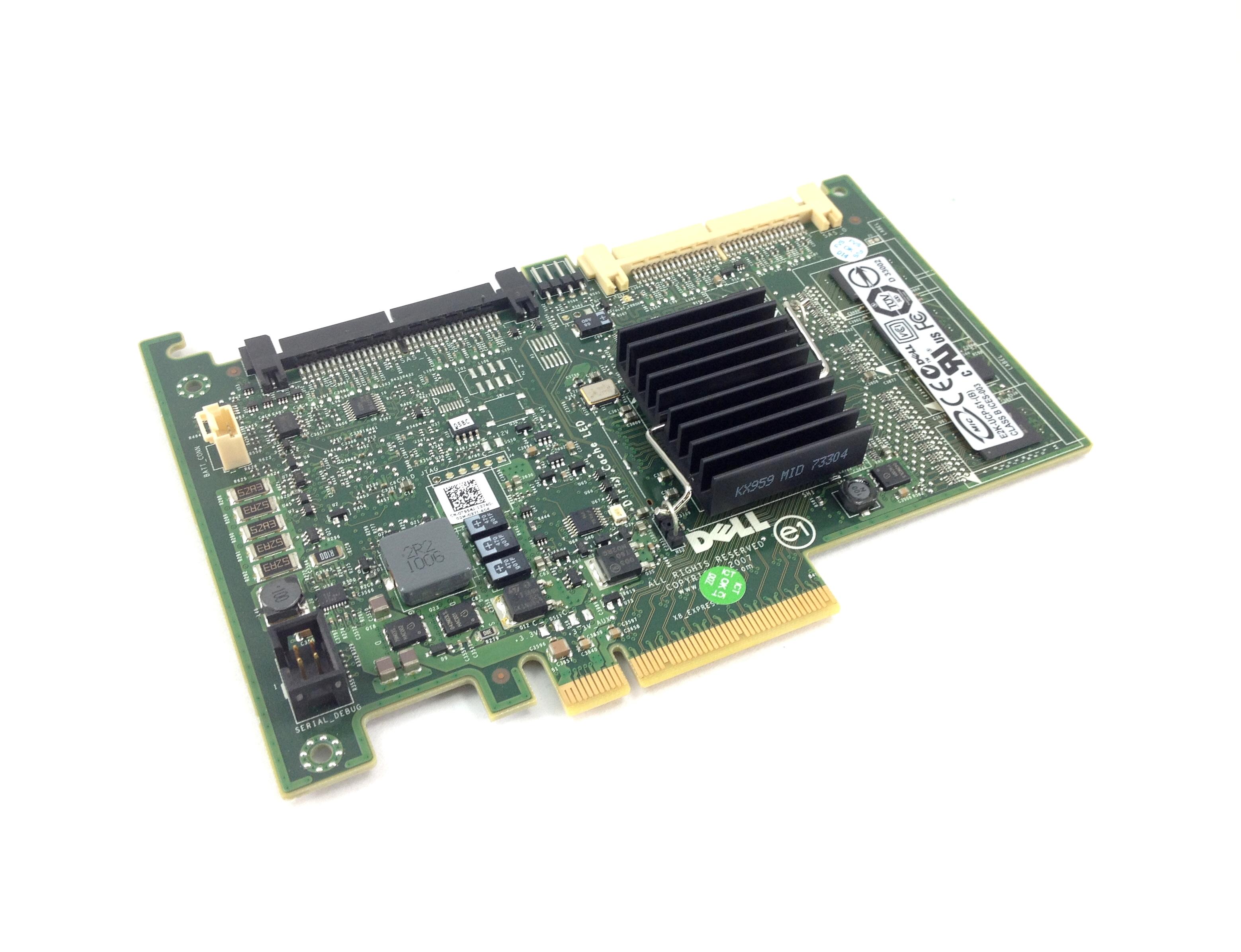 DELL POWERERDGE PERC 6/I PCI-E SAS/SATA RAID CONTROLLER (T954J)