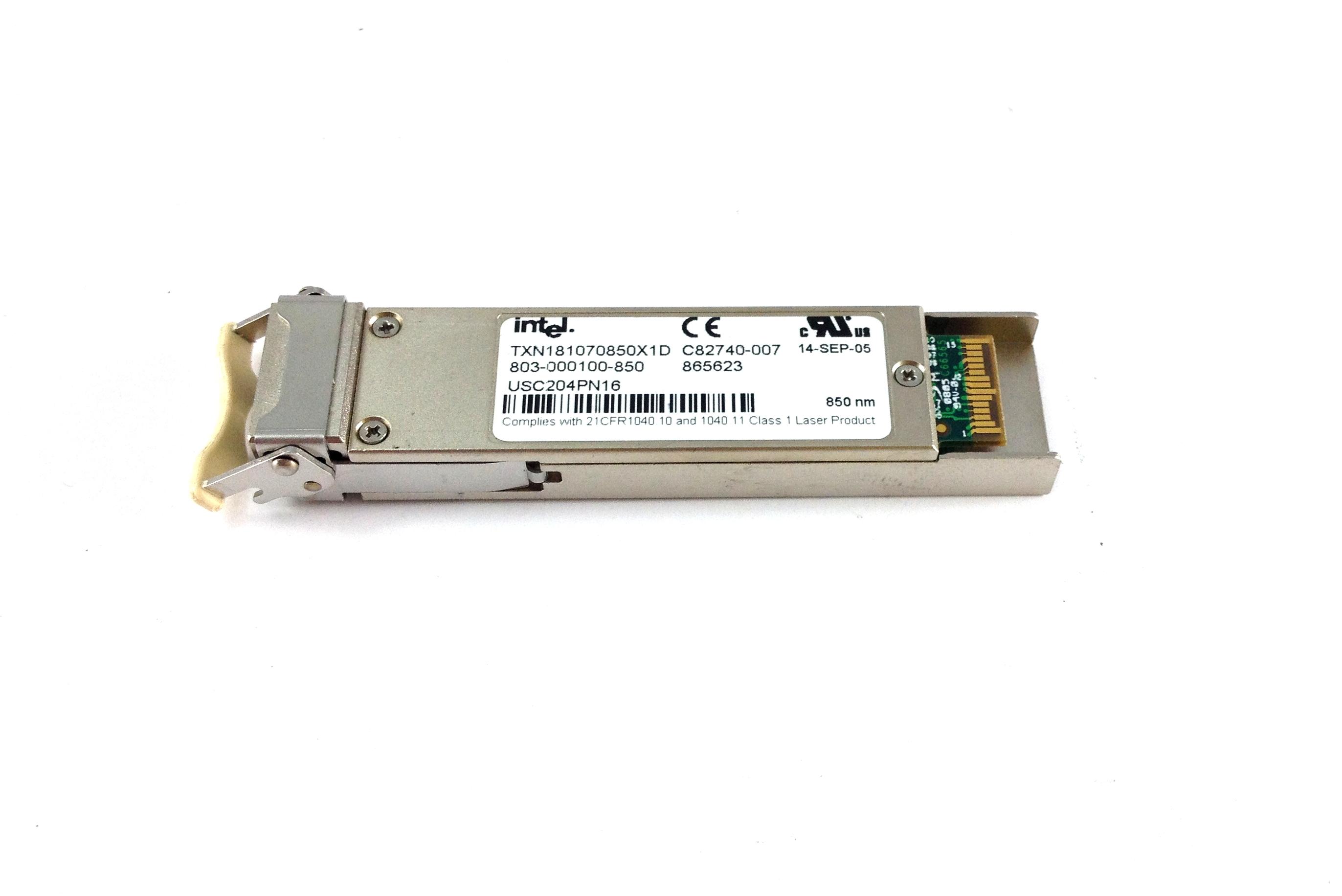Intel 10GB Sw XFP 850NM Optical Tranceiver (TXN181070850X1D)