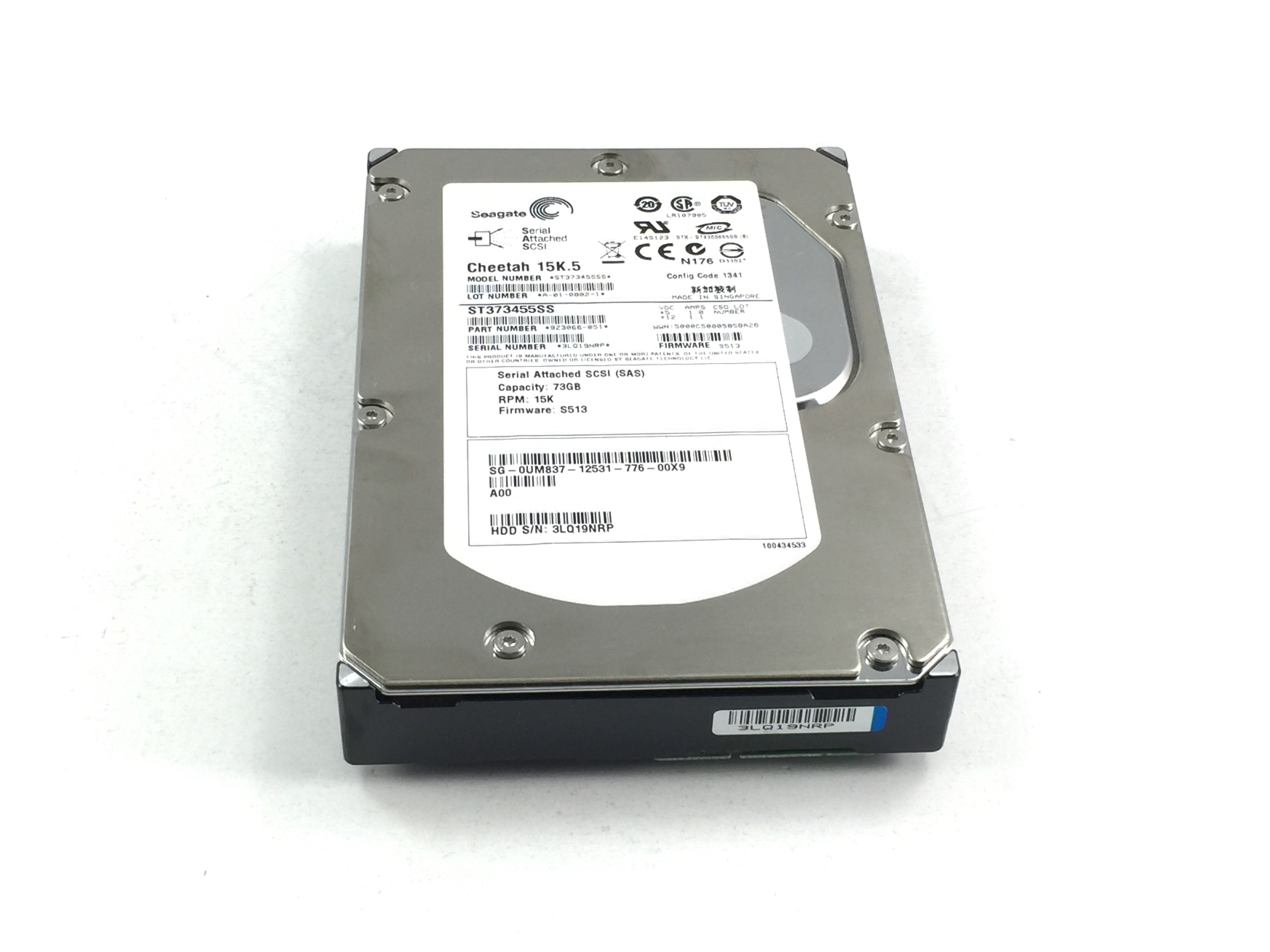 Dell Cheetah 73GB 15K 3Gbps SAS 3.5'' Hard Drive (UM837)