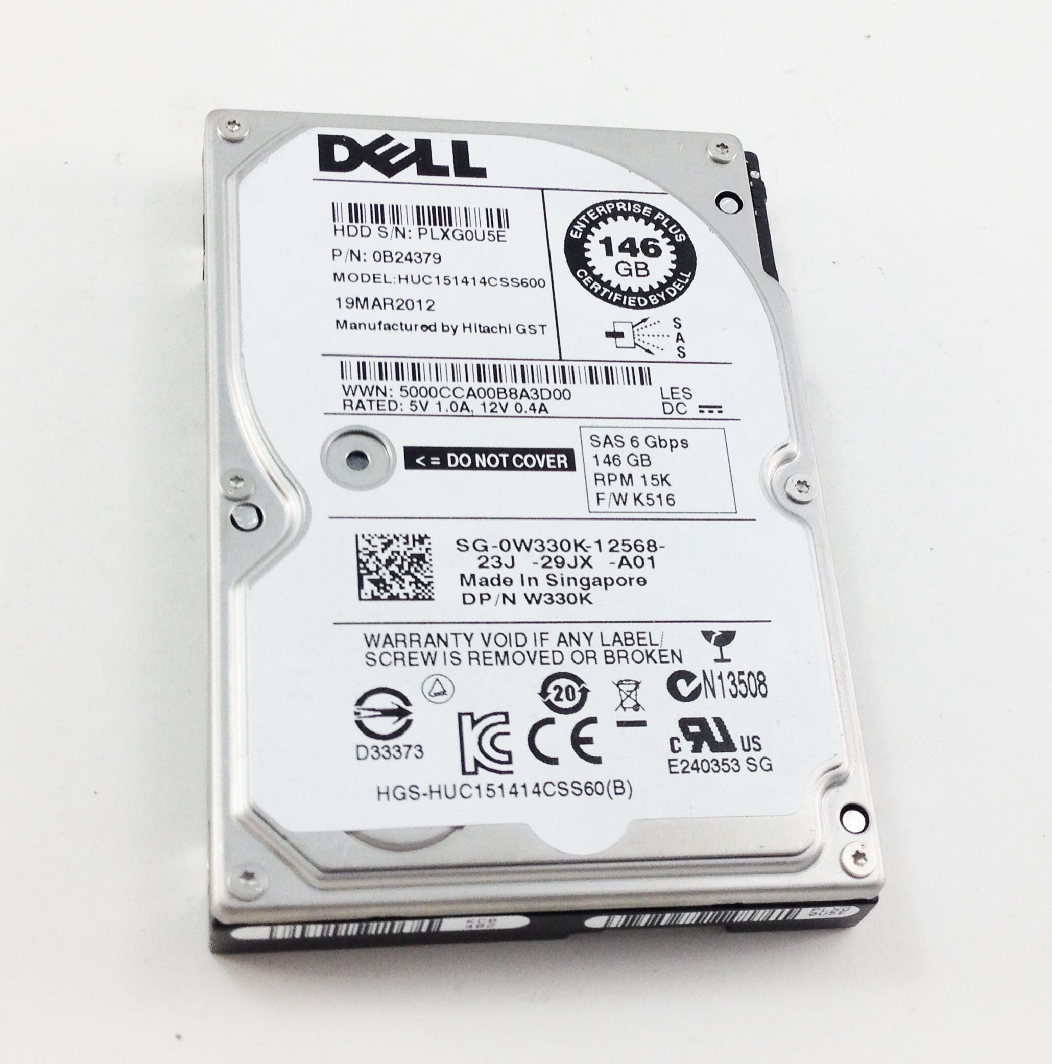 Dell 146GB 15K 6Gbps SAS 2.5'' Hard Drive (W330K)