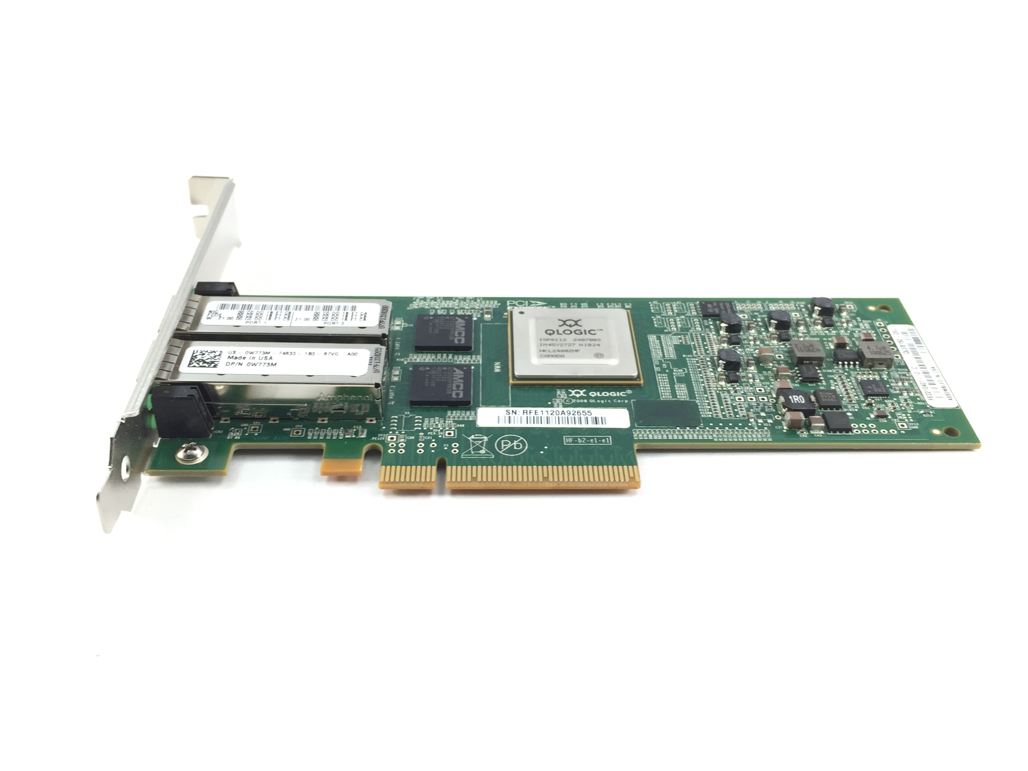 Dell Qlogic Qle8152 10GB Dual Port Ethernet Network Adapter (W773M)