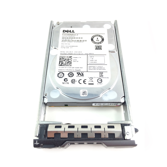 Dell Enterprise 1TB 7.2K 6Gbps SATA 2.5'' Hard Drive HDD (WF12F)