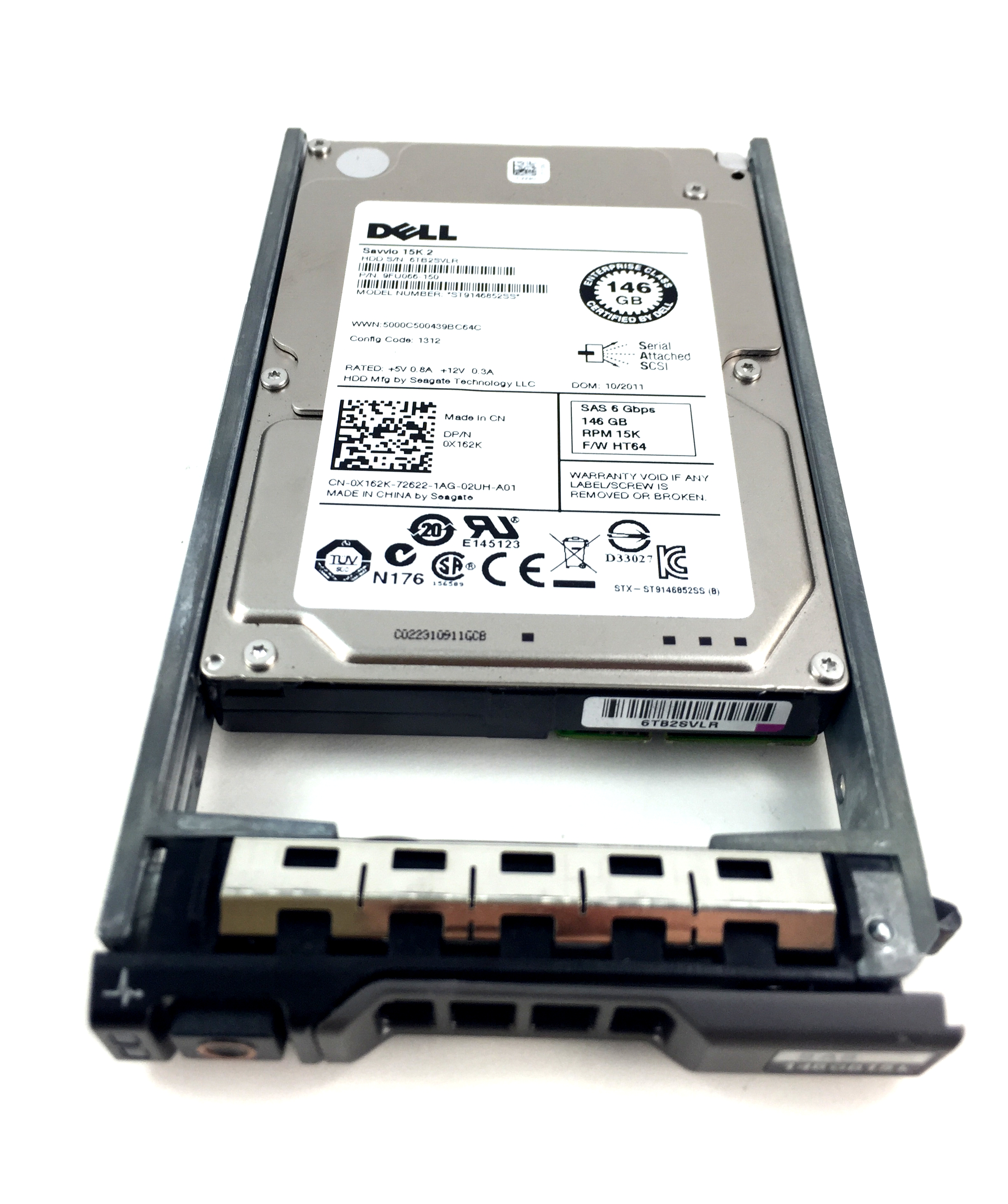 DELL 146GB 15K 6GBPS SAS 2.5'' HARD DRIVE (X162K)