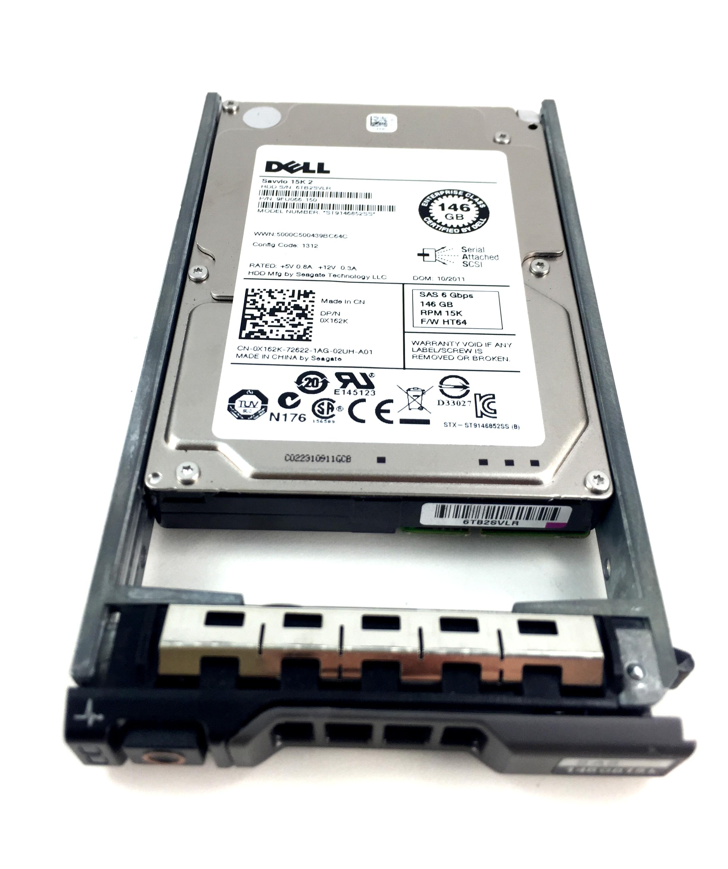 DELL 146GB 15K 6GBPS SAS 2.5'' HARD DRIVE (X162K)