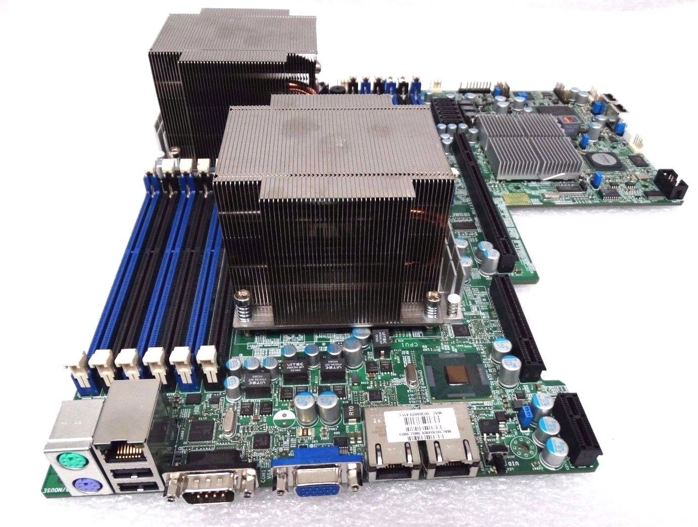 Supermicro Dual Xeon LGA1366 System Board With Heatsinks (X8DTU-F)