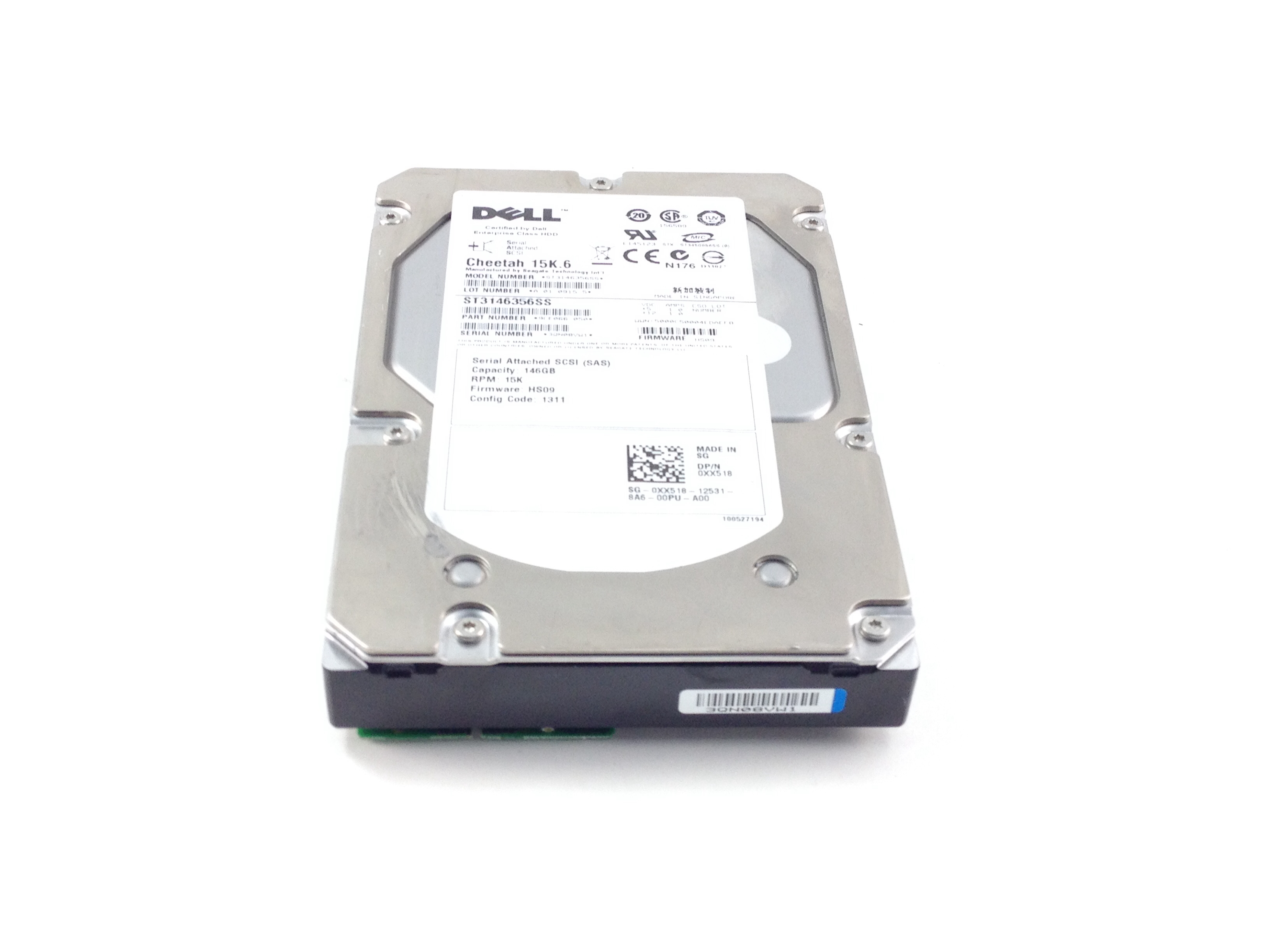 Dell Cheetah 146GB 15K SAS 3.5'' Hard Drive (XX518)