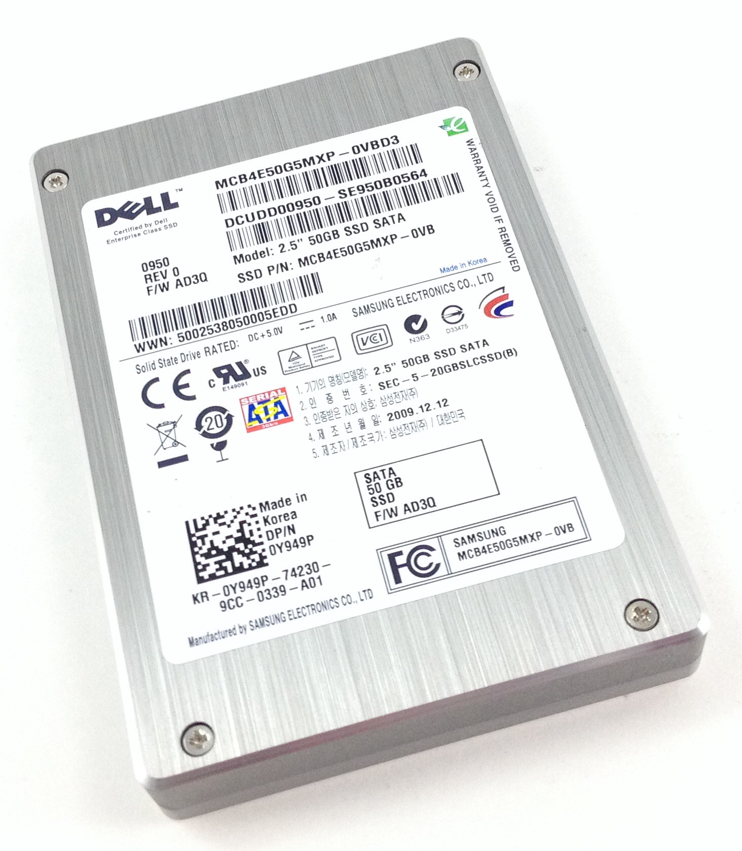 Dell Samsung 50GB 3Gbps SATA 2.5'' MLC Solid State Drive (Y949P)