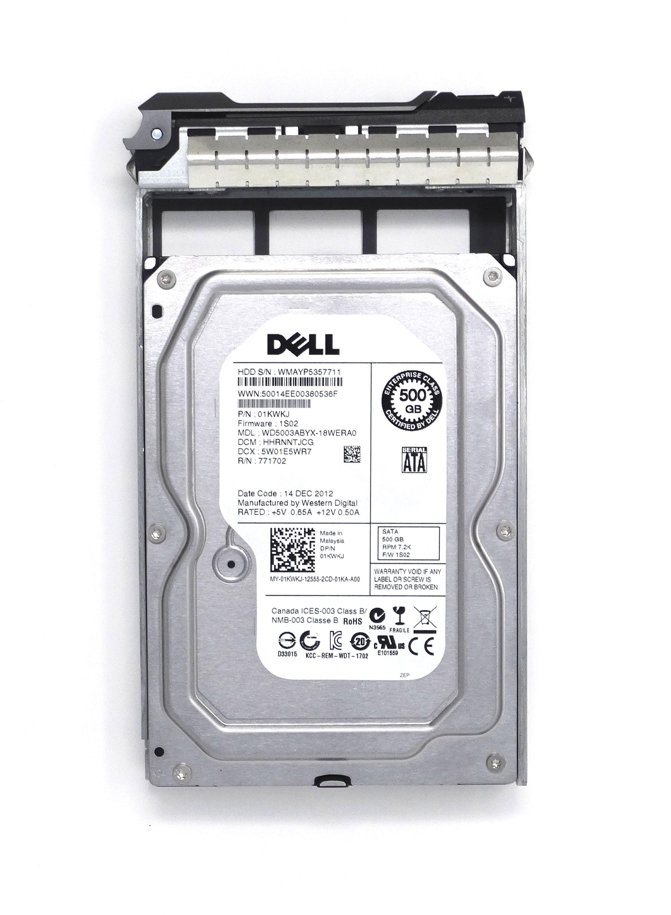 DELL WESTERN DIGITAL 500GB 7.2K 6GBPS SATA 3.5'' HARD DRIVE (1KWKJ)