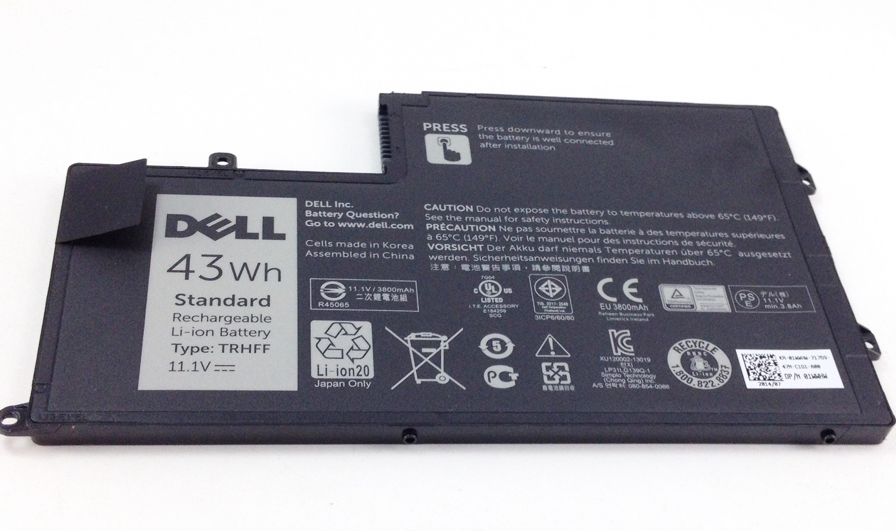 Dell Genuine Inspiron 15-5547 43Wh 11.1V Battery (1WWHW)