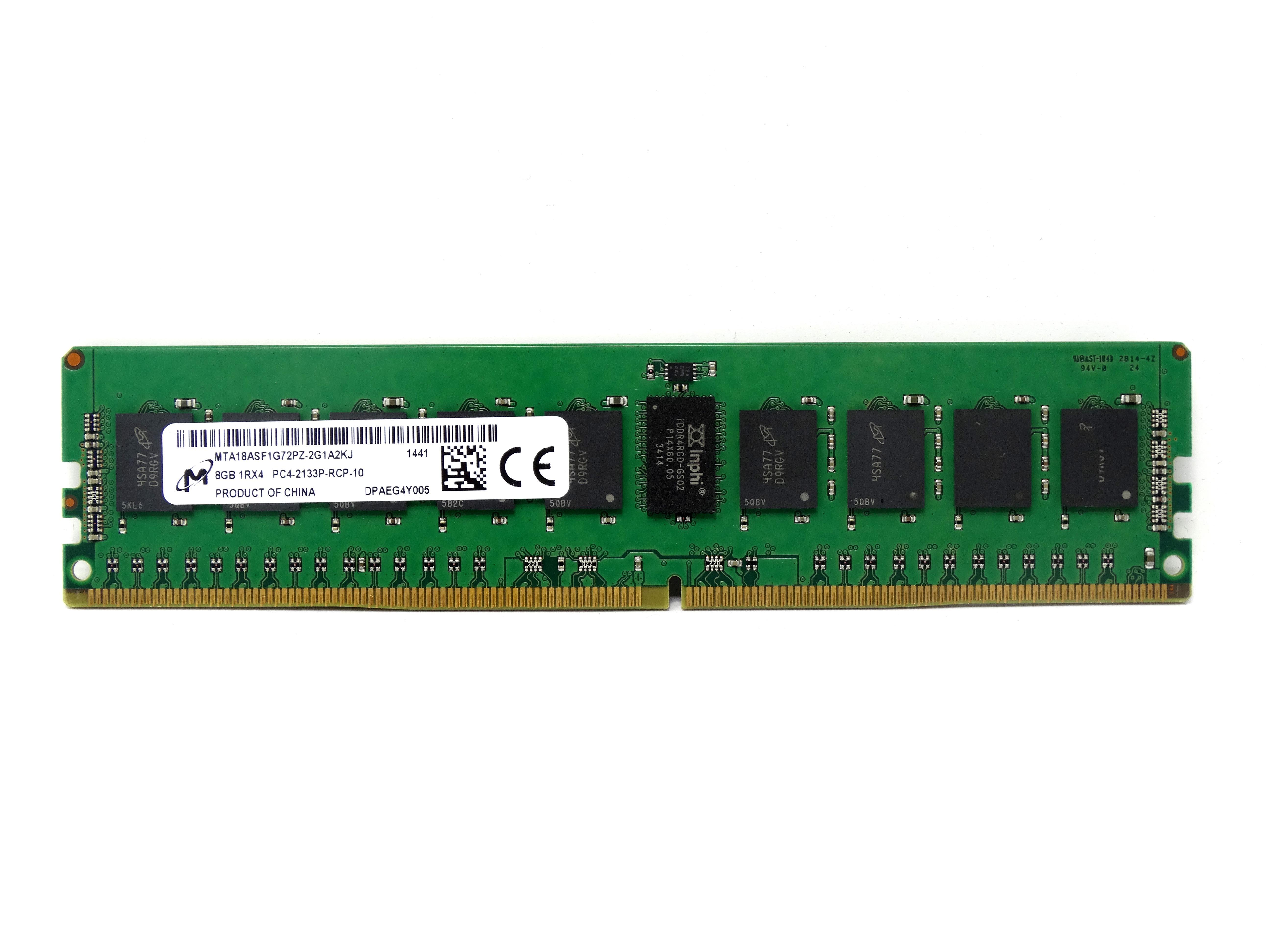Micron 8GB 1Rx4 PC4-2133P DDR4-17000-R ECC REG RAM Memory (MTA18ASF1G72PZ-2G1A2)