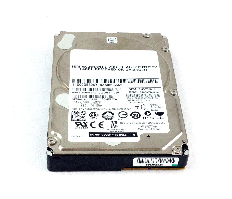 IBM Seagate 600GB 10K 6Gbps SAS 2.5'' Hard Drive (00D5306)
