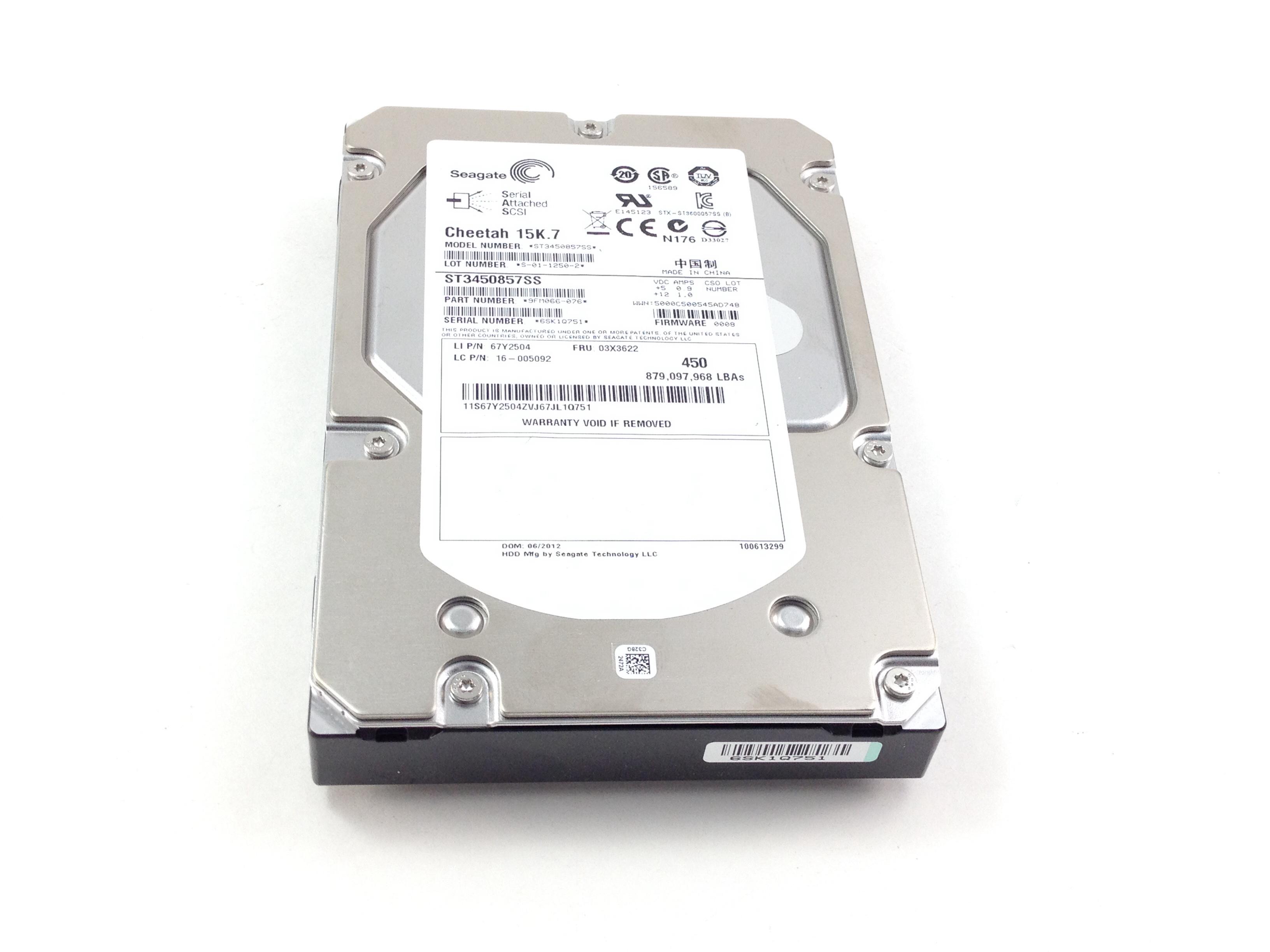 Lenovo Seagate Cheetah 450GB 6Gbps 15K SAS 3.5'' Hard Drive (03X3622)