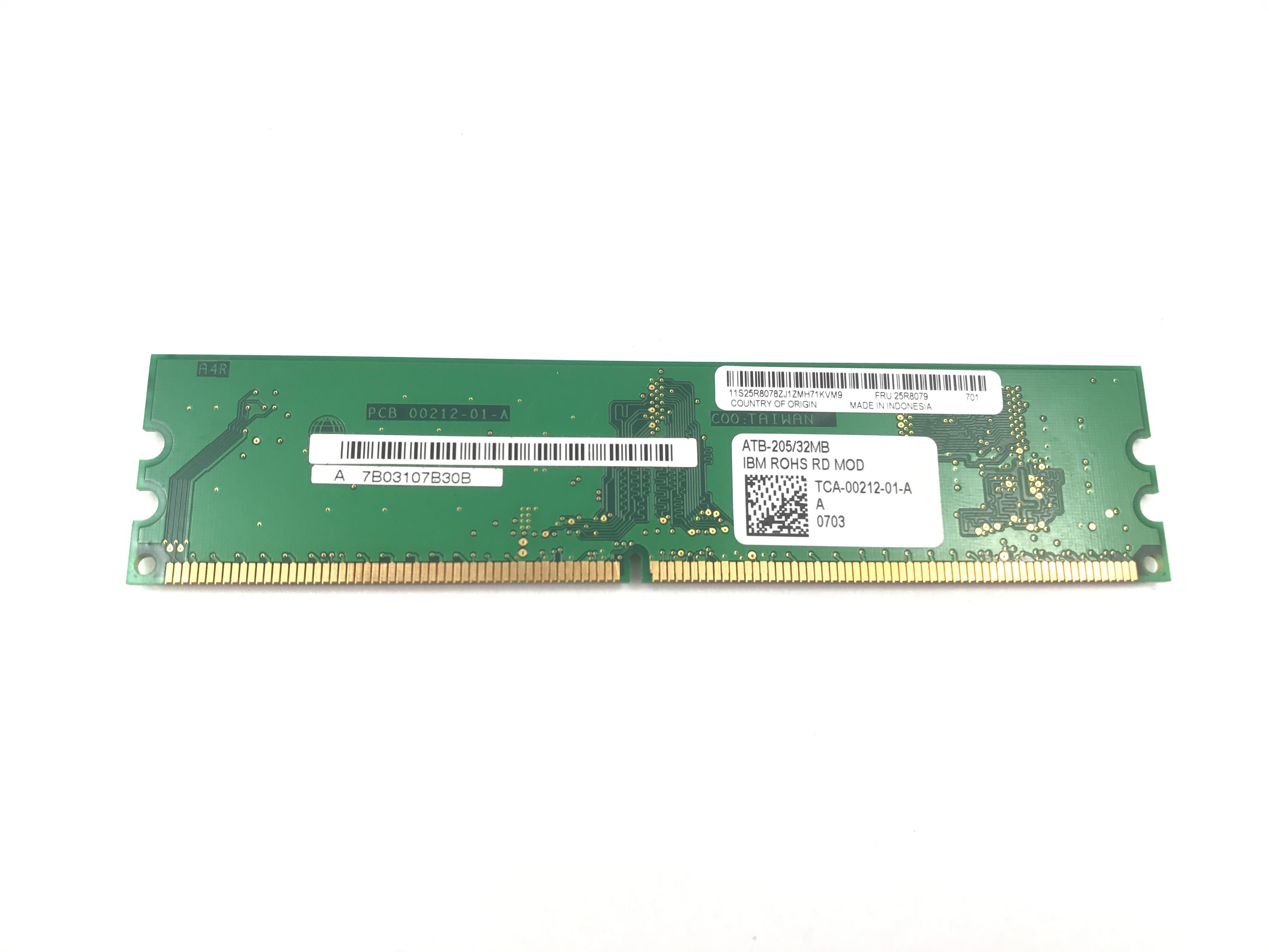 IBM Serveraid 8K-L Atb-205 / 32MB SAS Controller Tca-00212-01-A (25R8079)