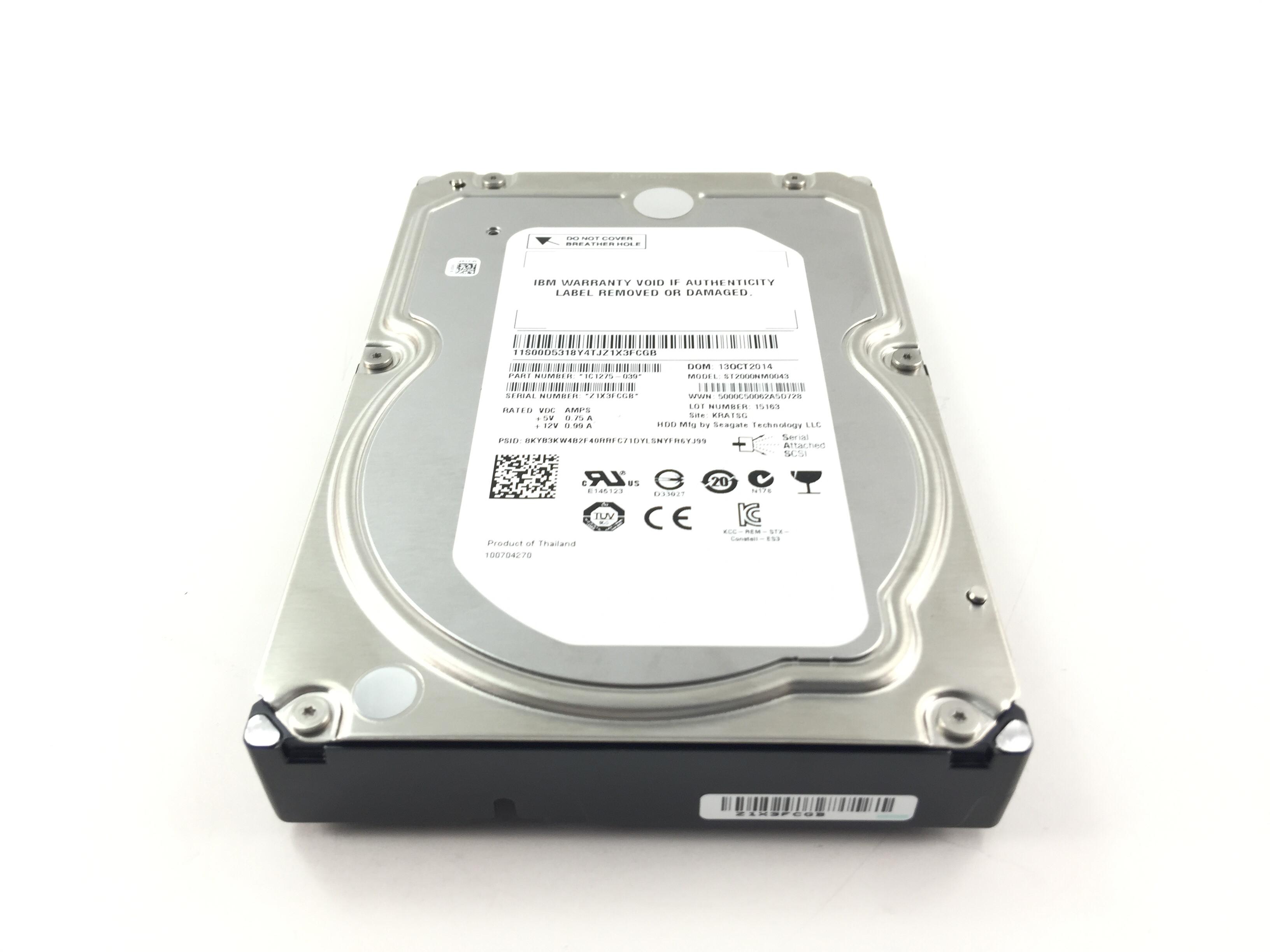 IBM Seagate 2TB 7.2K 6Gbps SAS 3.5'' Hard Drive (00D5318)